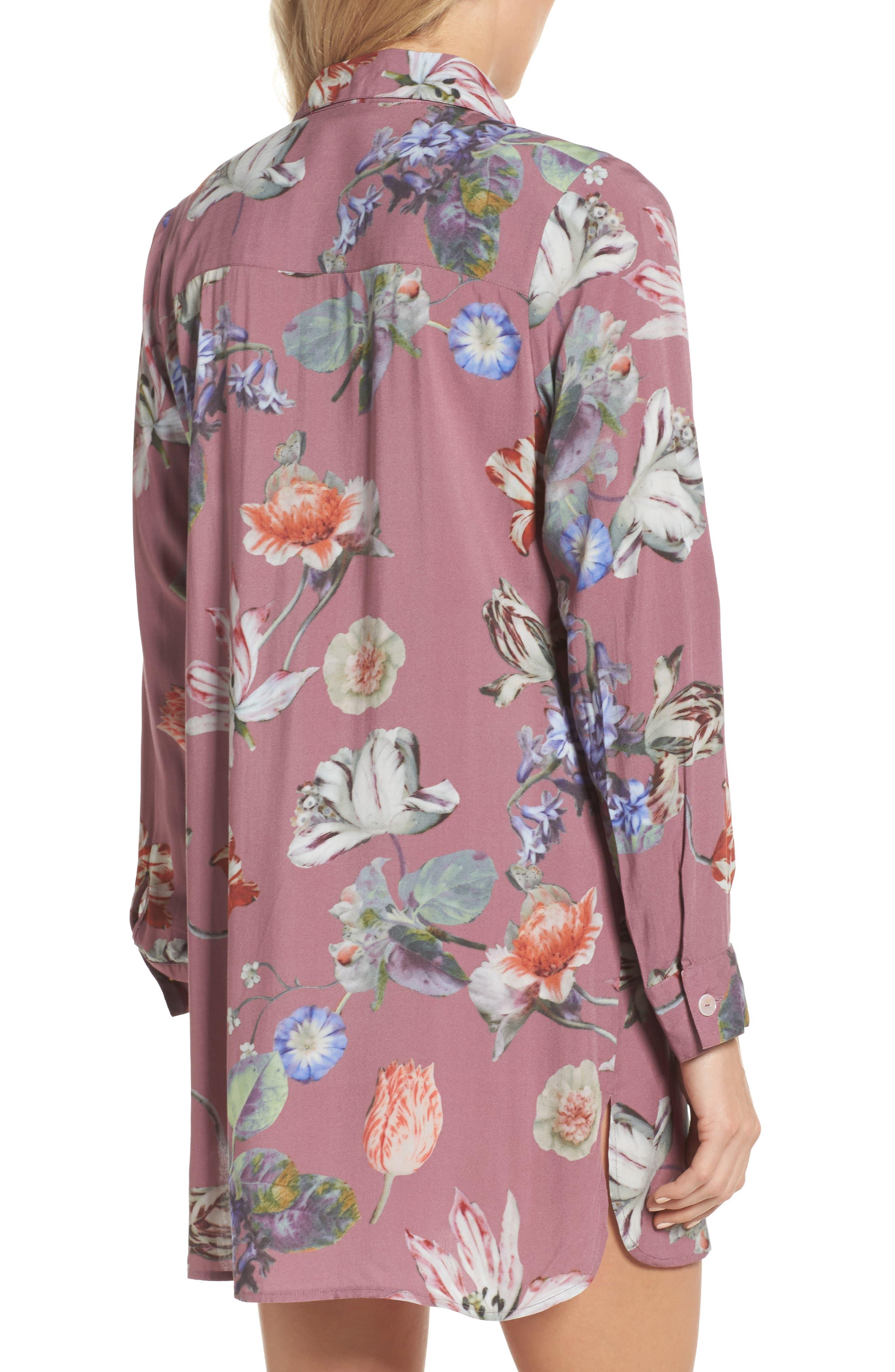 Floral Nightshirt,                             Alternate thumbnail 2, color,                             Sundown