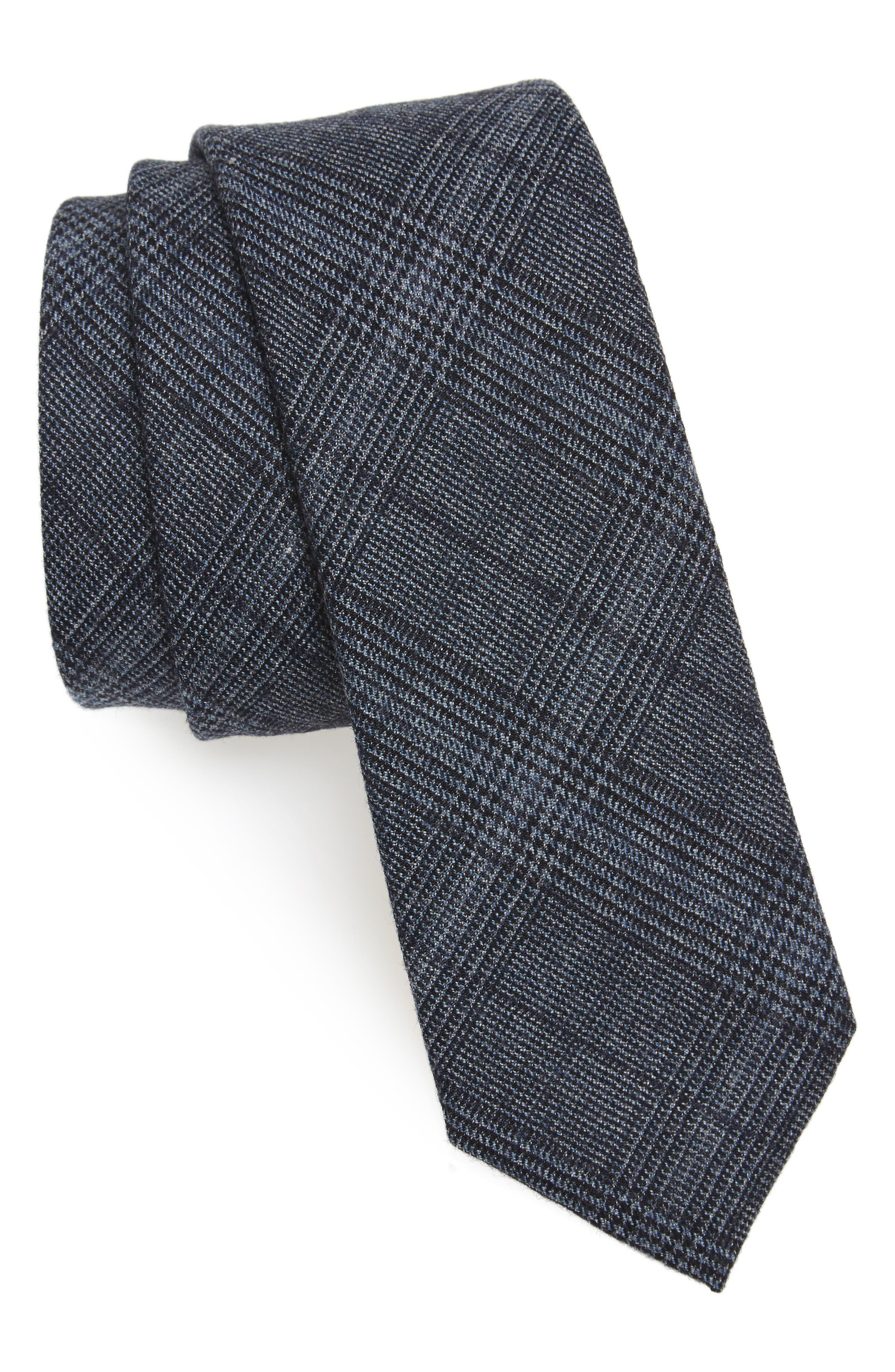 The Tie Bar Glen Haze Wool Skinny Tie