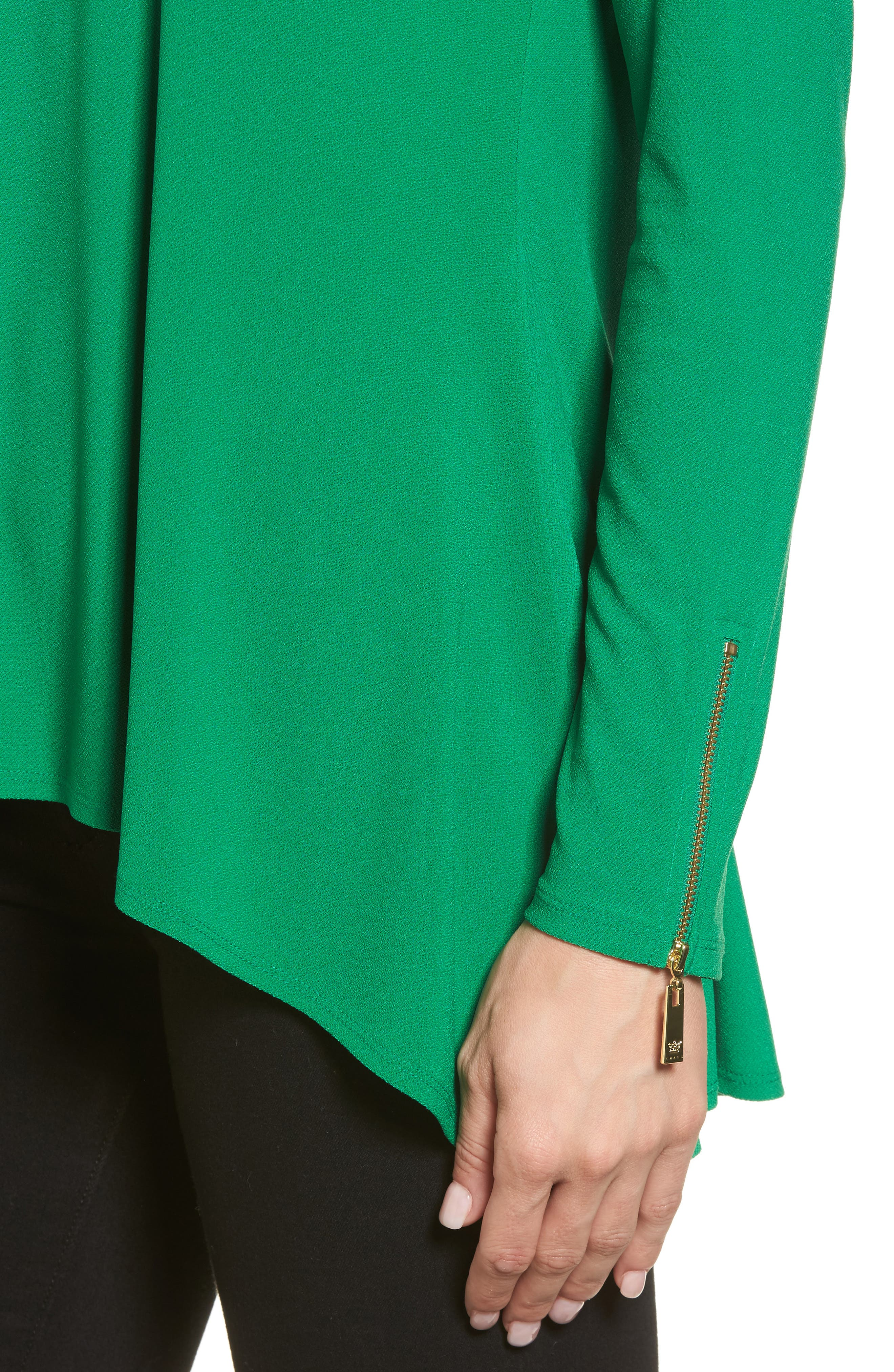 Alternate Image 4  - Chaus Zip Cuff Crepe Knit Top