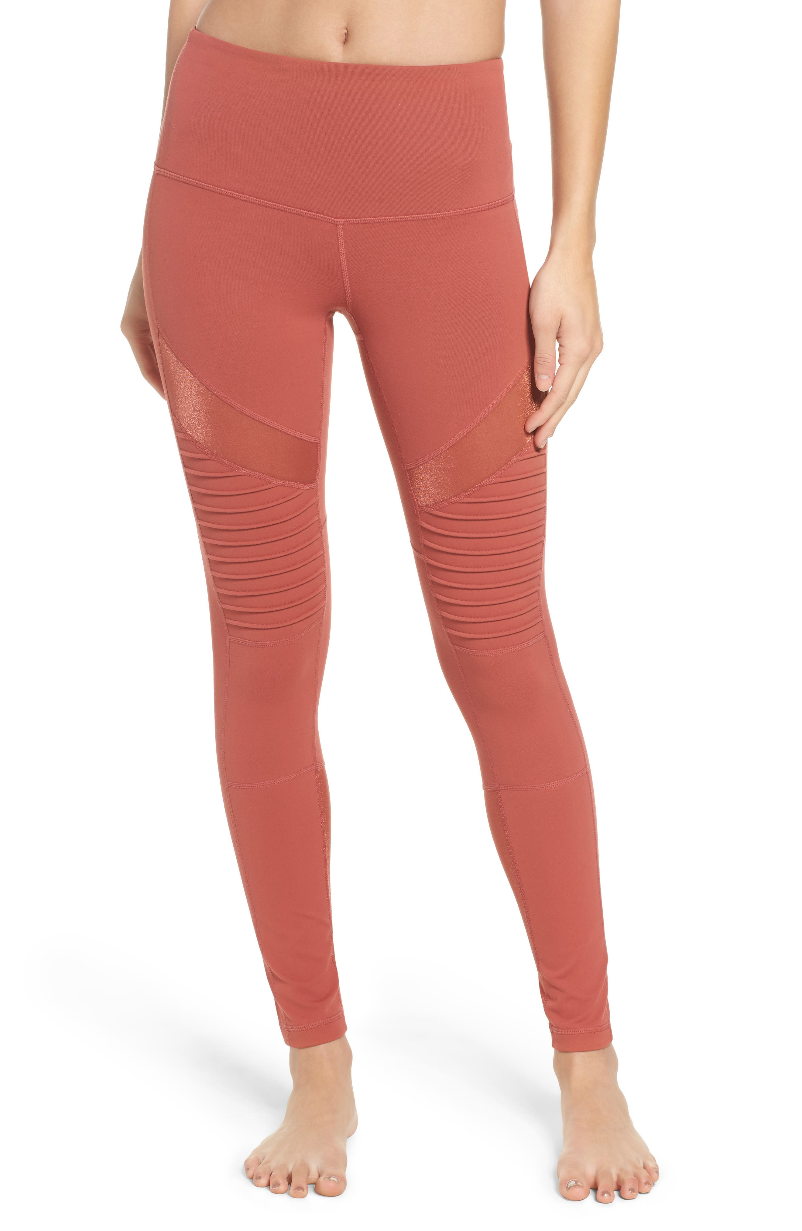 Main Image - Zella Autumn High Waist Moto Ankle Leggings