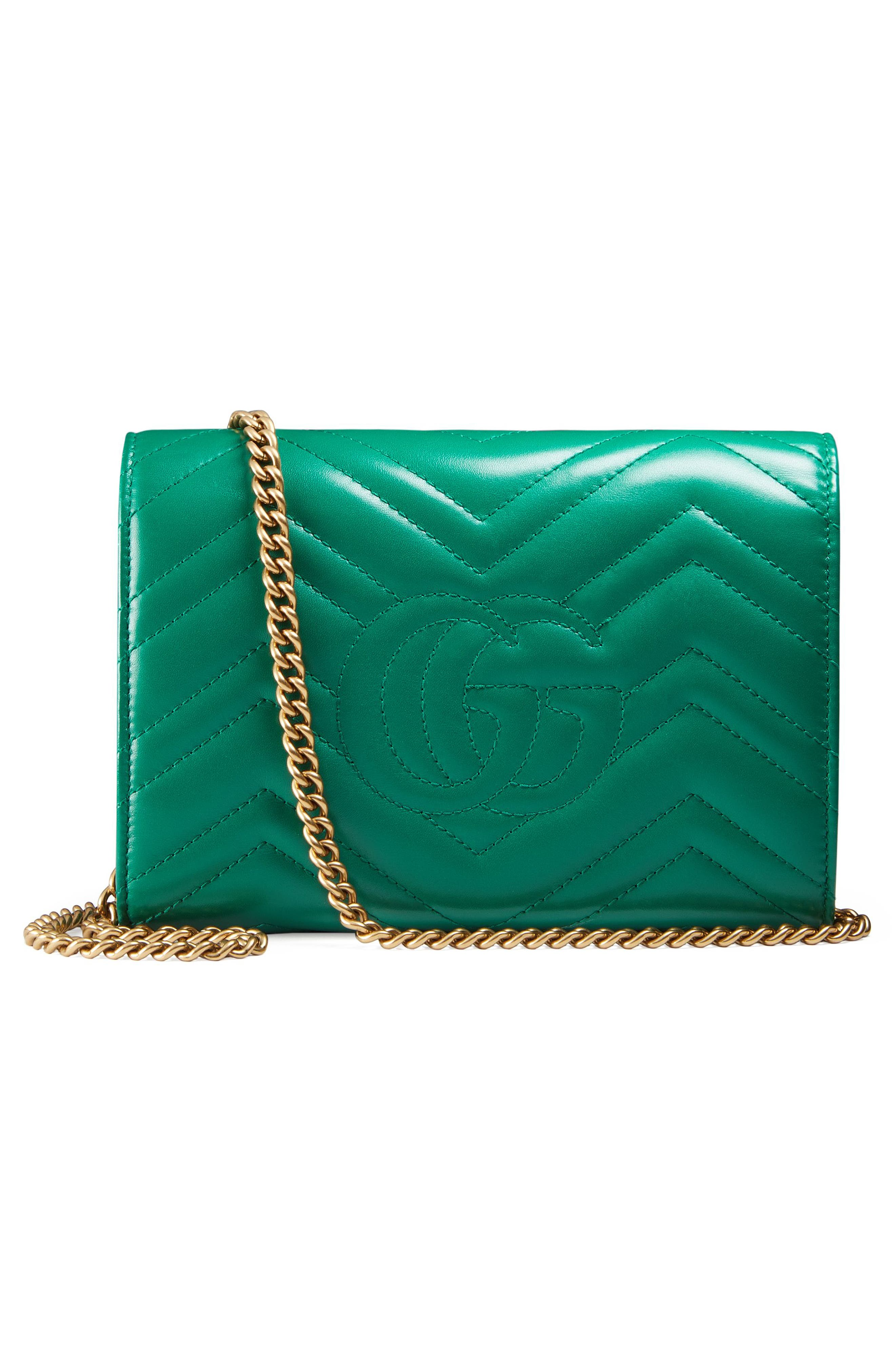 Alternate Image 2  - Gucci GG Marmont Matelassé Leather Wallet on a Chain