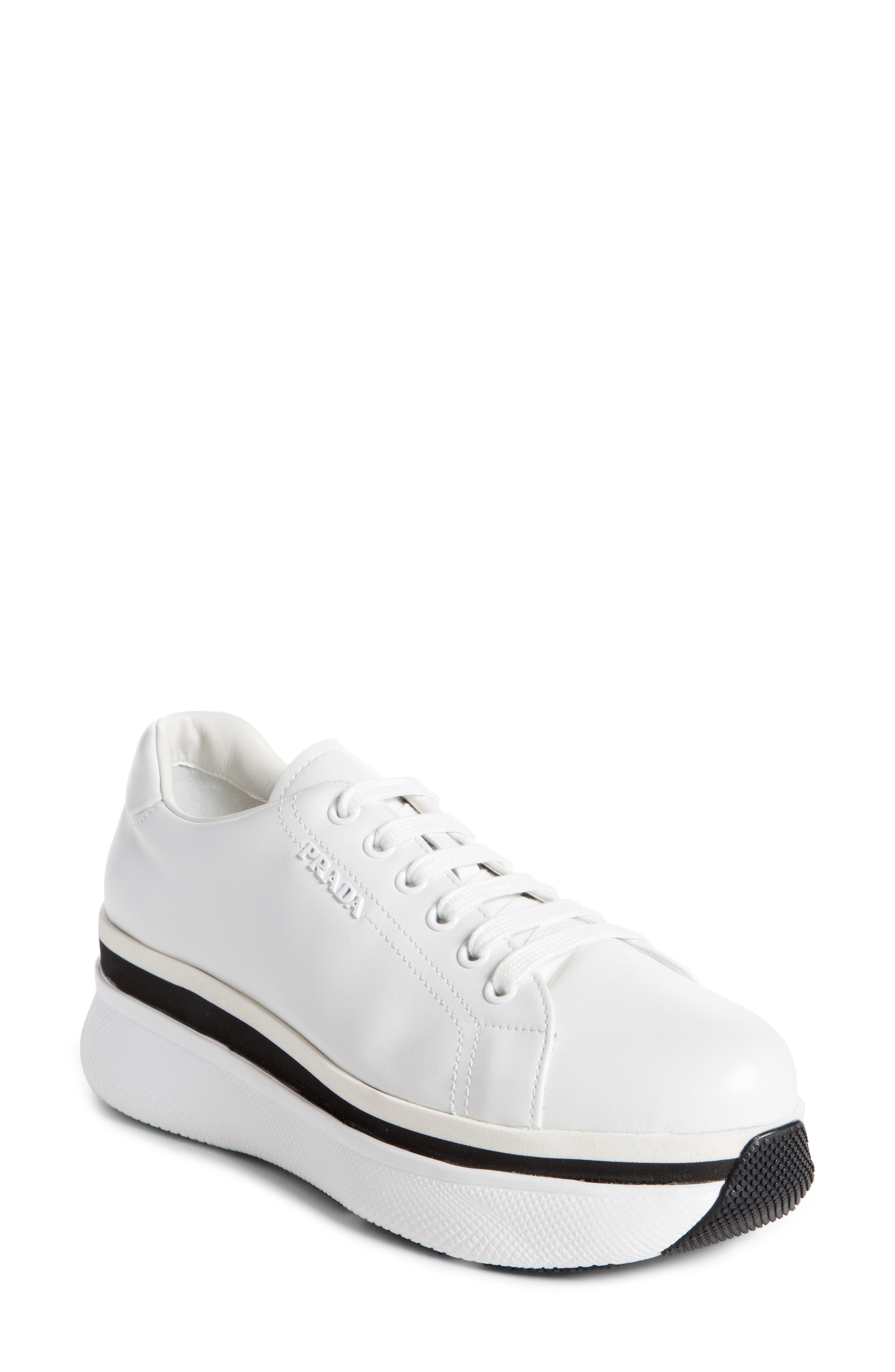 Prada Platform Lace-Up Sneaker (Women)