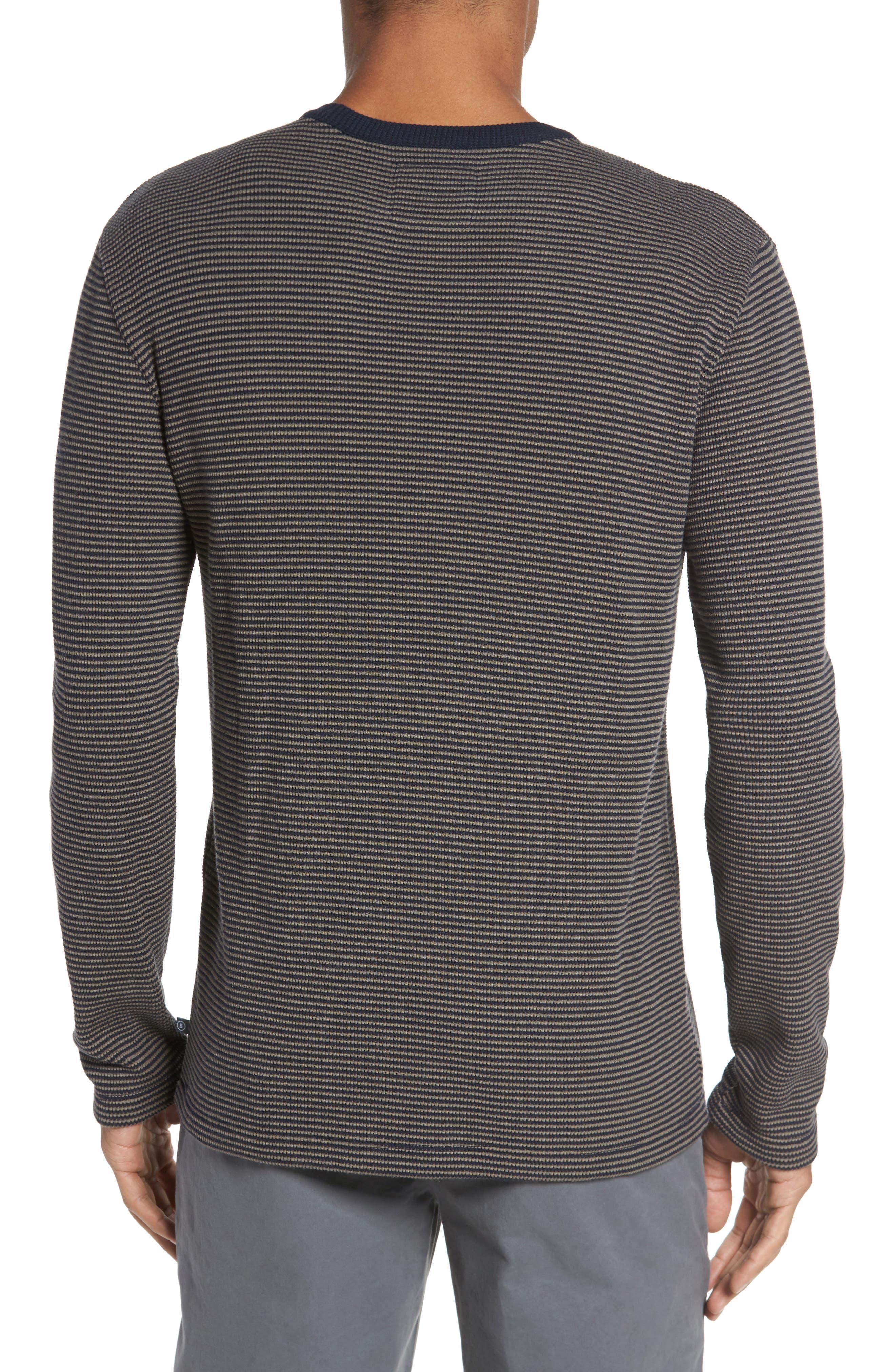 Slim Fit Waffle Knit T-Shirt,                             Alternate thumbnail 2, color,                             Oak/ Stormy Night