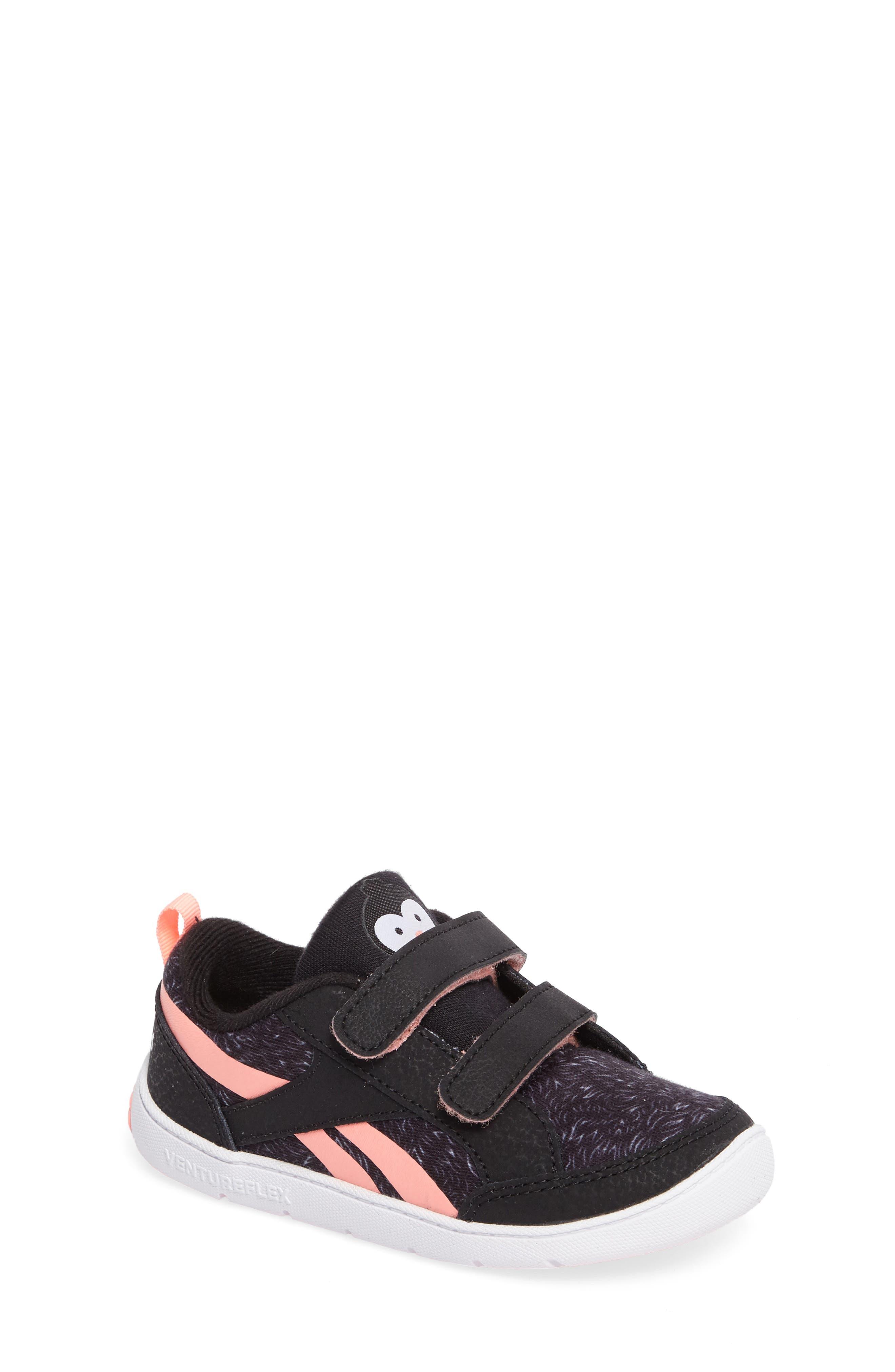 Ventureflex Critter Feet Sneaker,                             Main thumbnail 1, color,                             Artic Black/ White/ Sour Melon