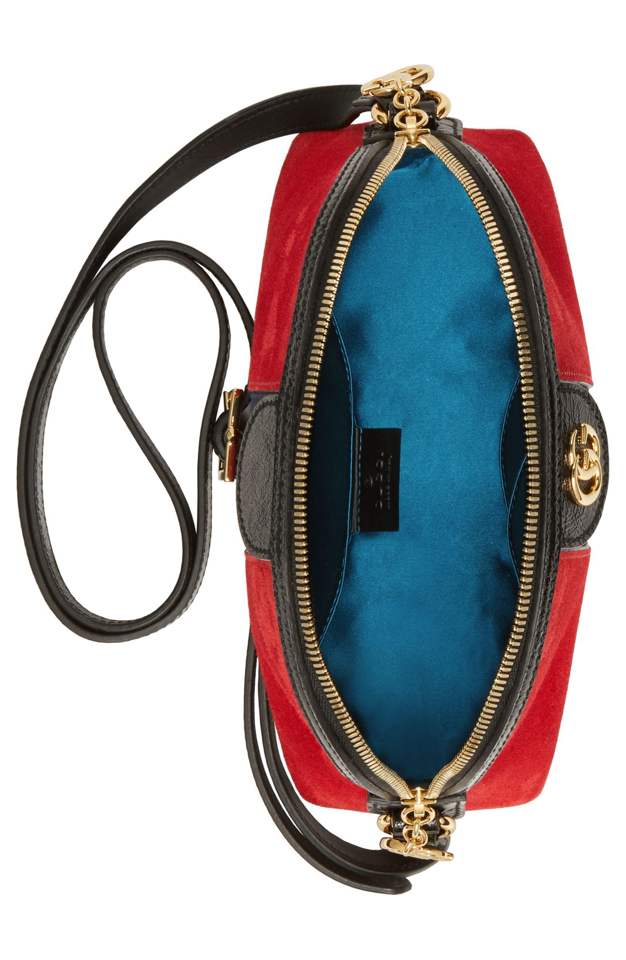 Alternate Image 3  - Gucci Small Suede Shoulder Bag