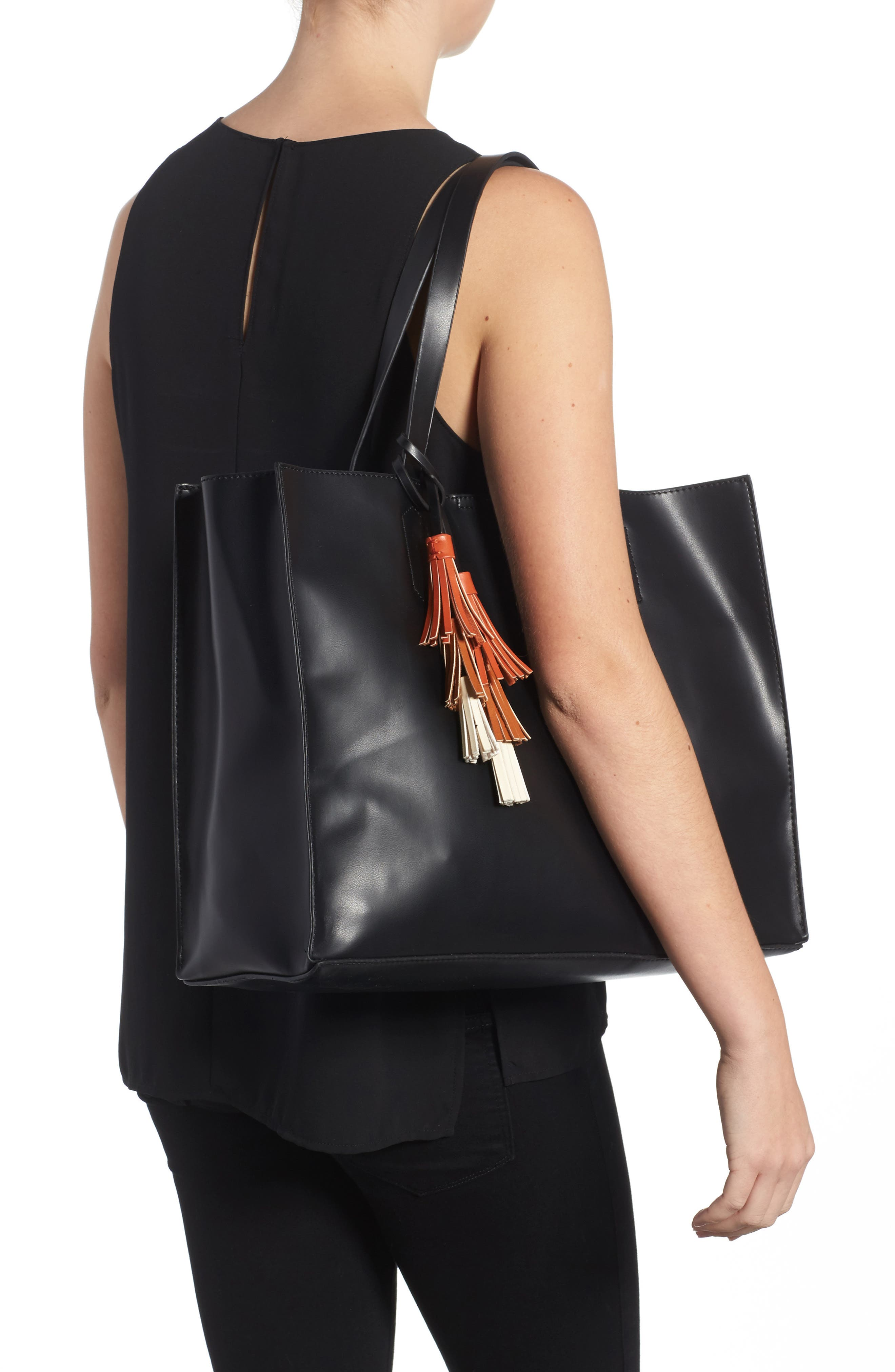 Alternate Image 2  - Emperia Tassel Faux Leather Tote
