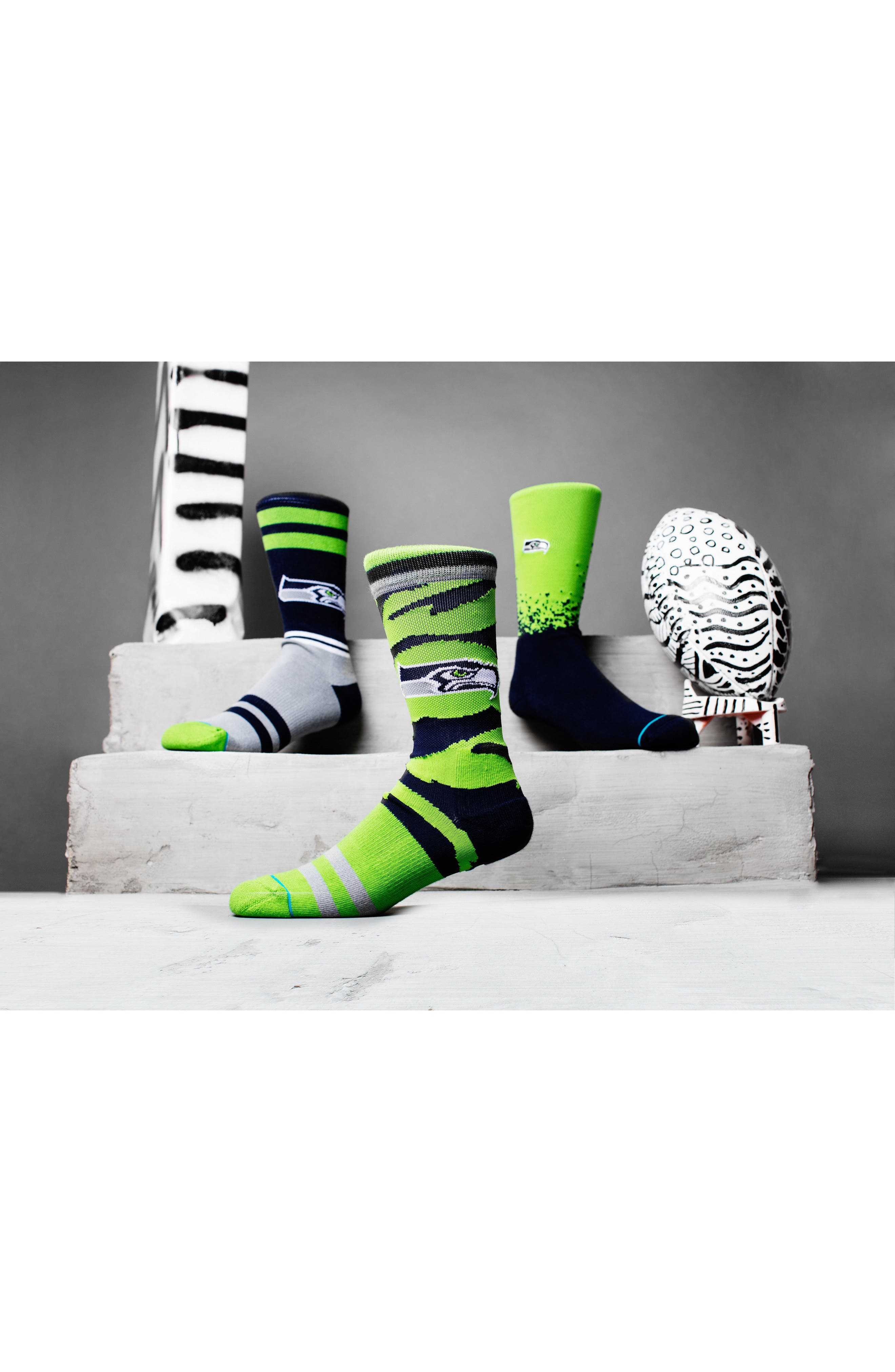 Alternate Image 3  - Stance Seattle Seahawks - Fade Socks
