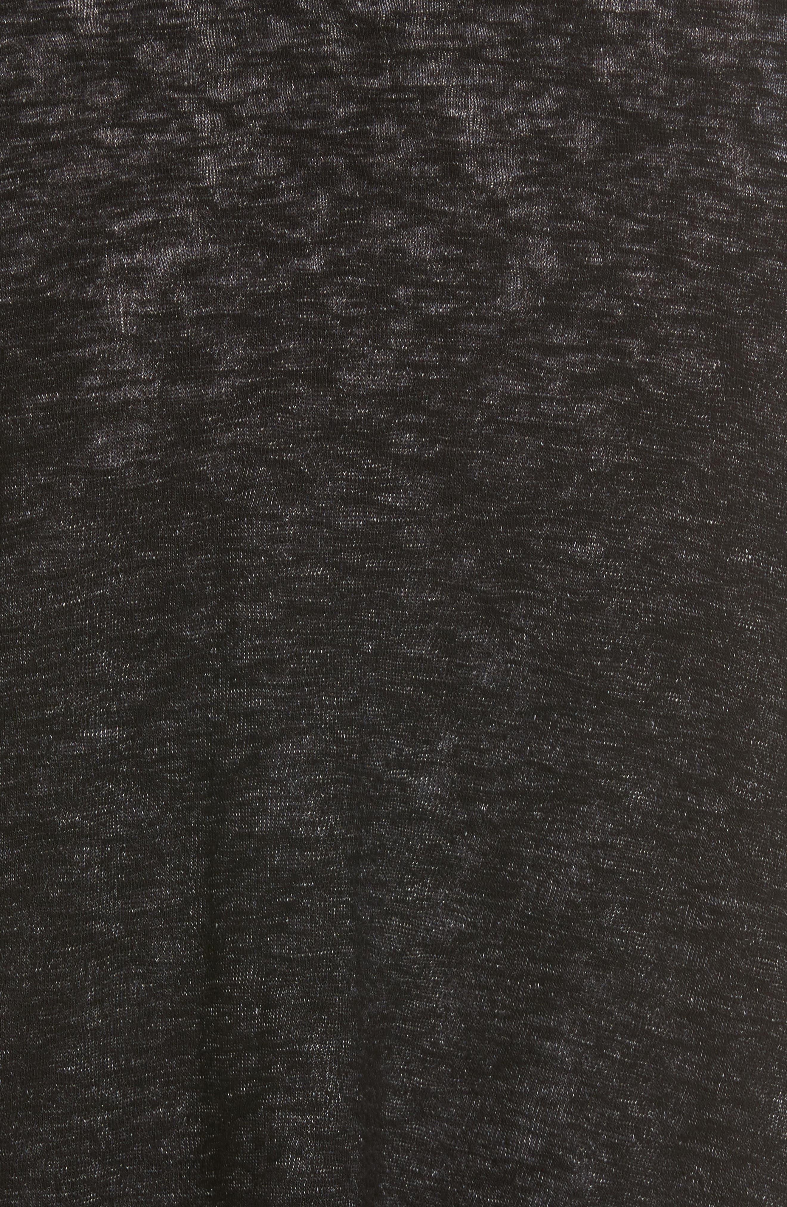 Textured Knit Ballet Tie Cardigan,                             Alternate thumbnail 5, color,                             Black