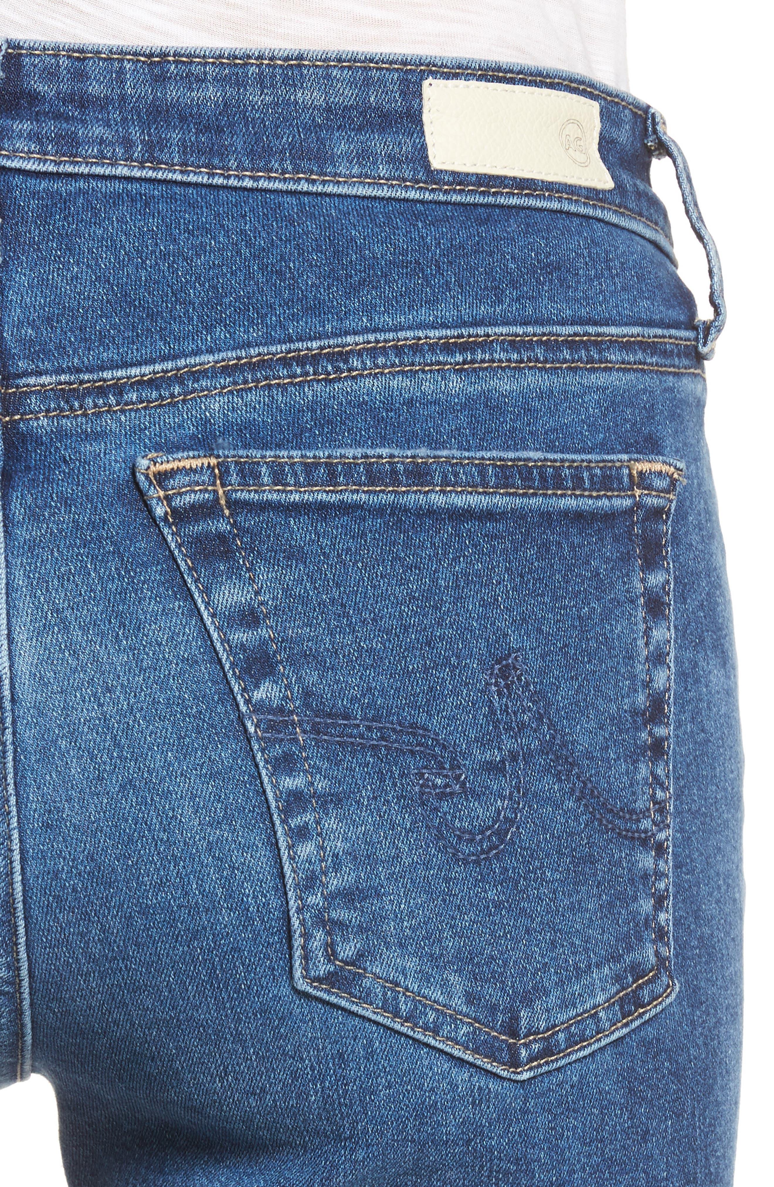 Alternate Image 4  - AG The Legging Ankle Super Skinny Jeans (17 Years Sea Drift)