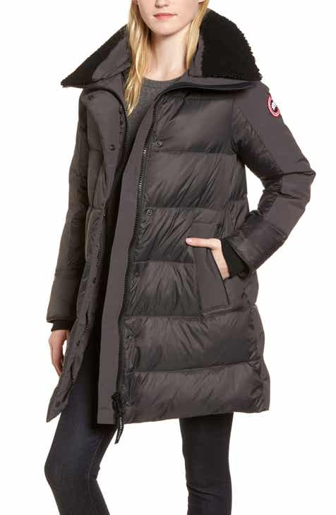 697e8d0d05473 Canada Goose Altona Water Resistant 750-Fill Power Down Parka with Genuine  Shearling Collar