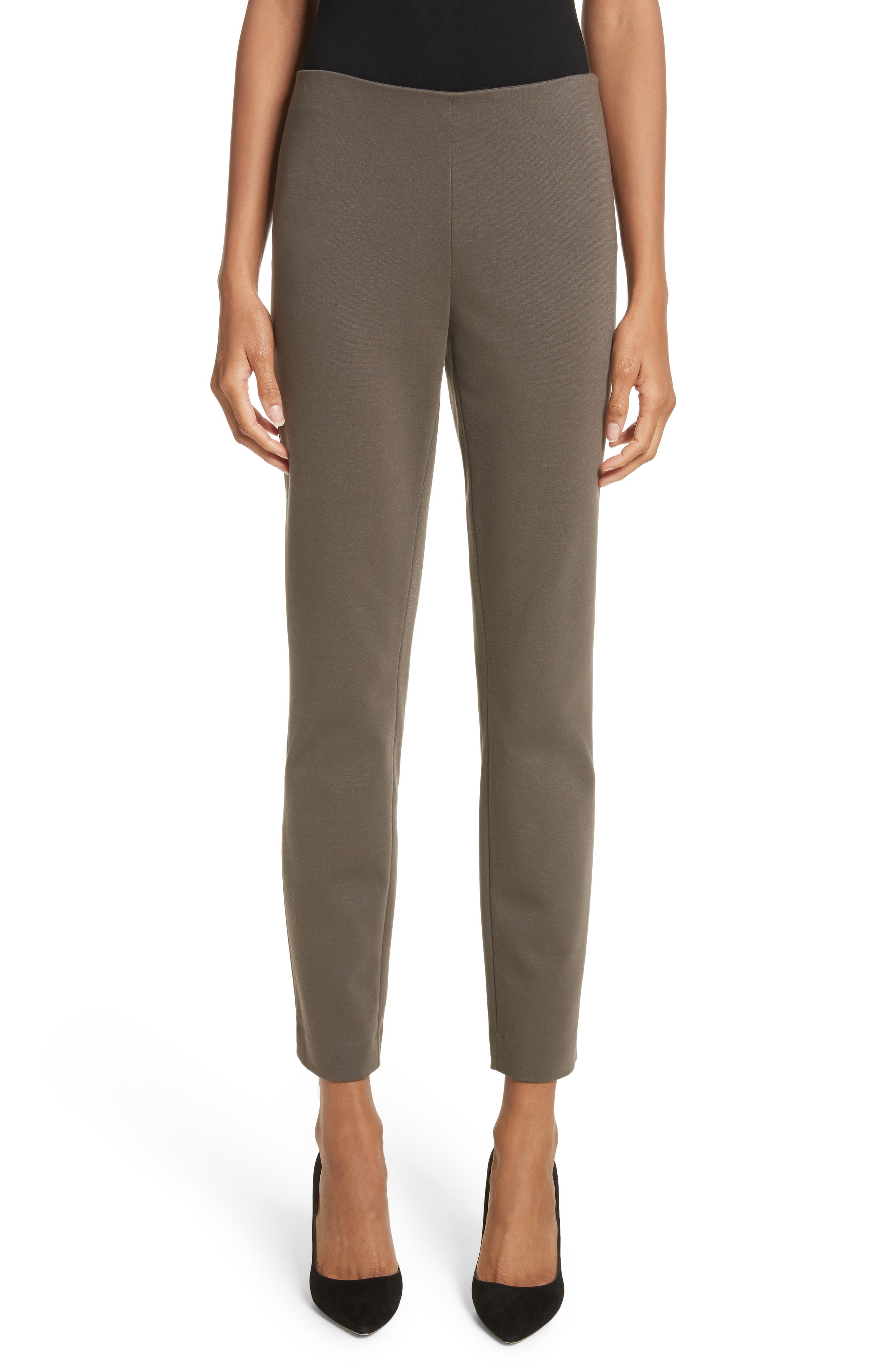 Lafayette 148 New York Heyward Punto Milano Slim Pants (Regular & Petite)