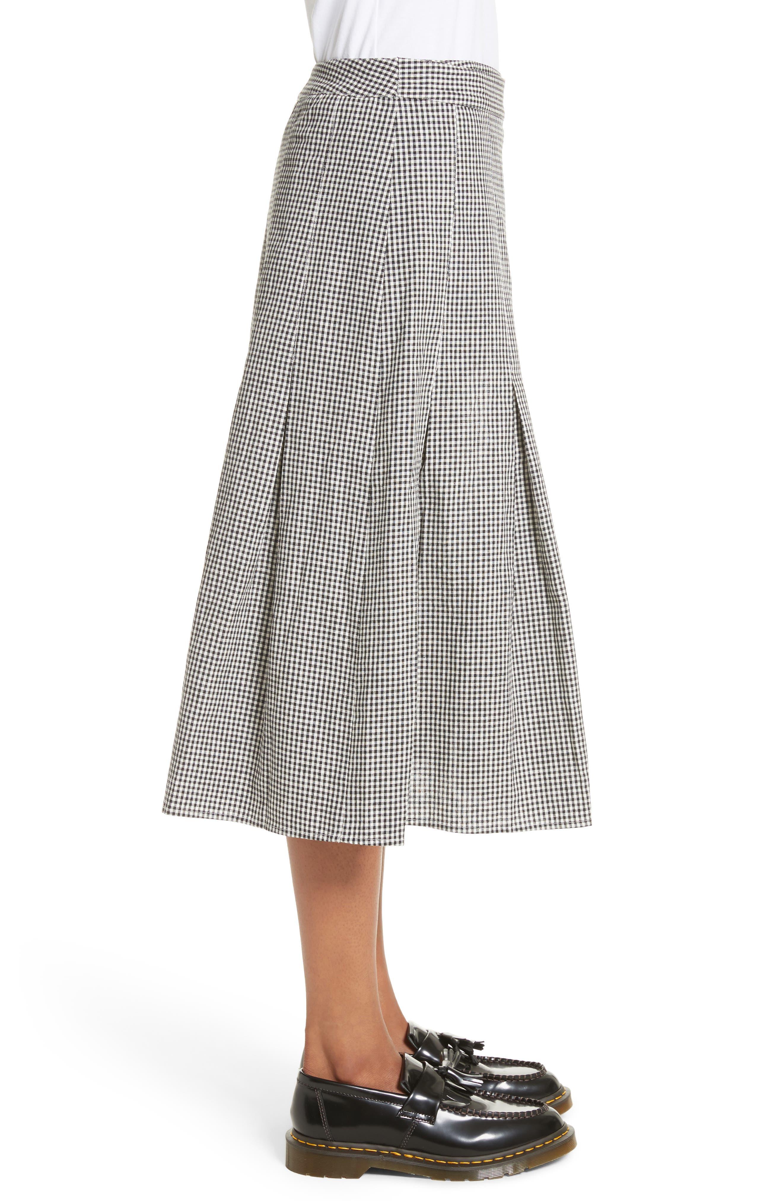 Alternate Image 3  - Sandy Liang Uniform Gingham Linen & Cotton Skirt