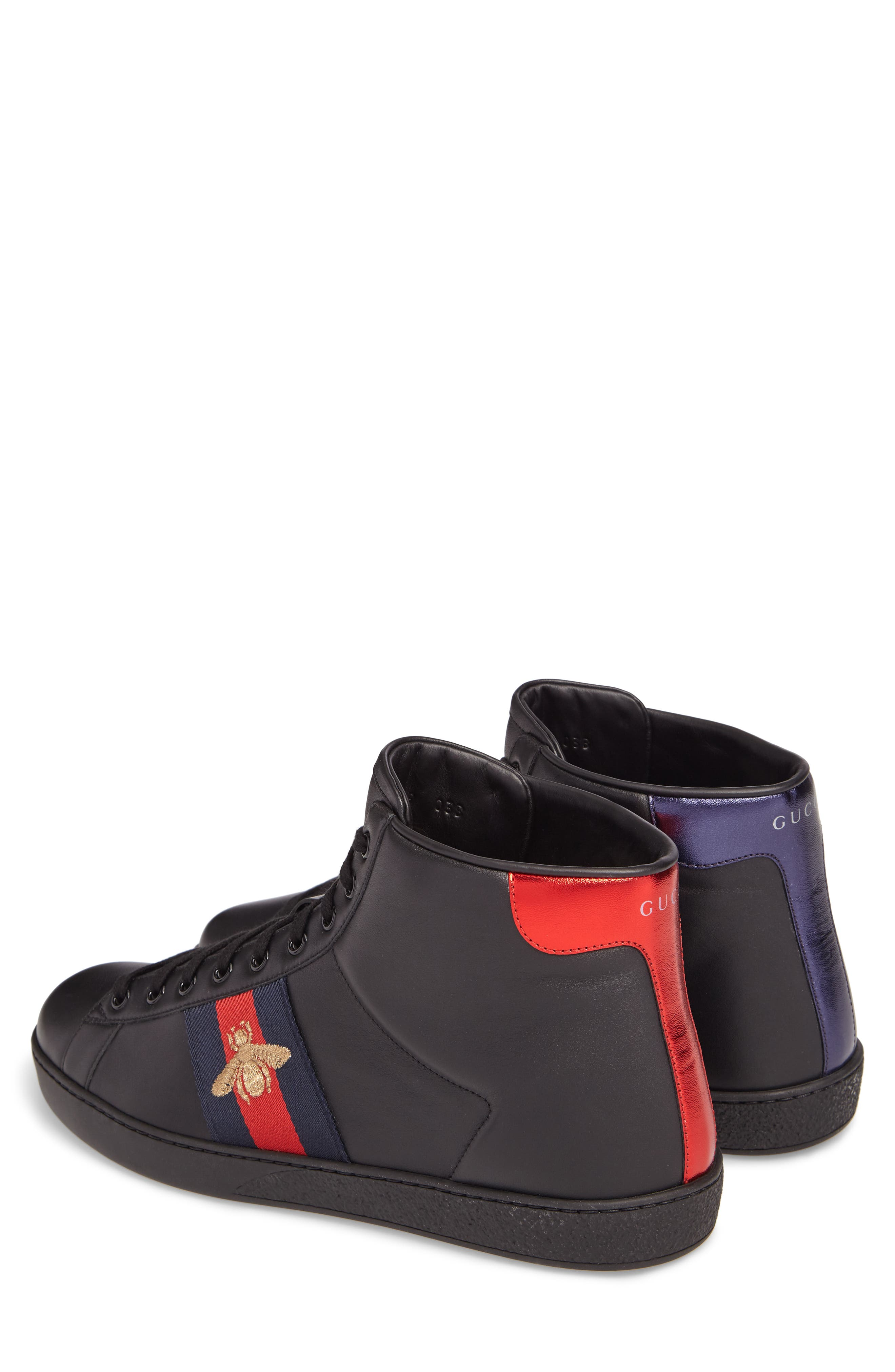 Ace High Top Sneaker,                             Alternate thumbnail 2, color,                             Black