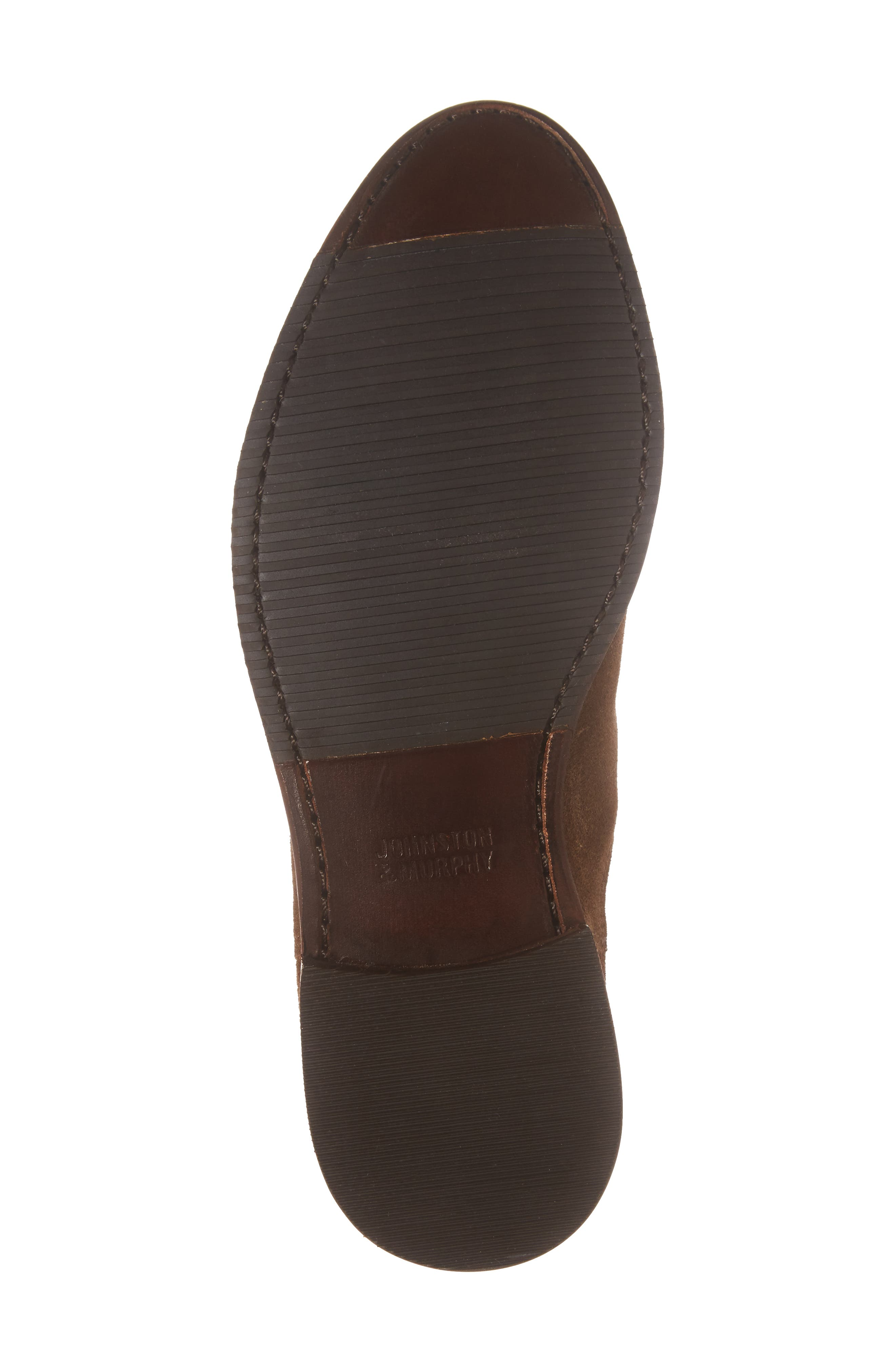 Gabrielle Chelsea Boot,                             Alternate thumbnail 6, color,                             Brown Suede