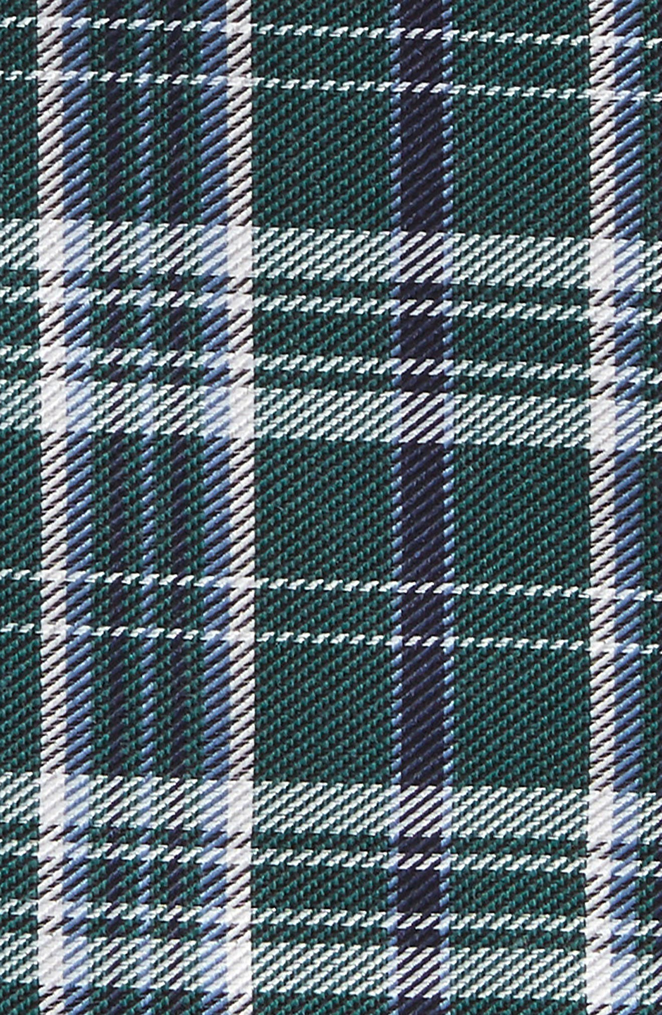 Andersen Plaid Wool Pocket Square,                             Alternate thumbnail 2, color,                             Hunter Green