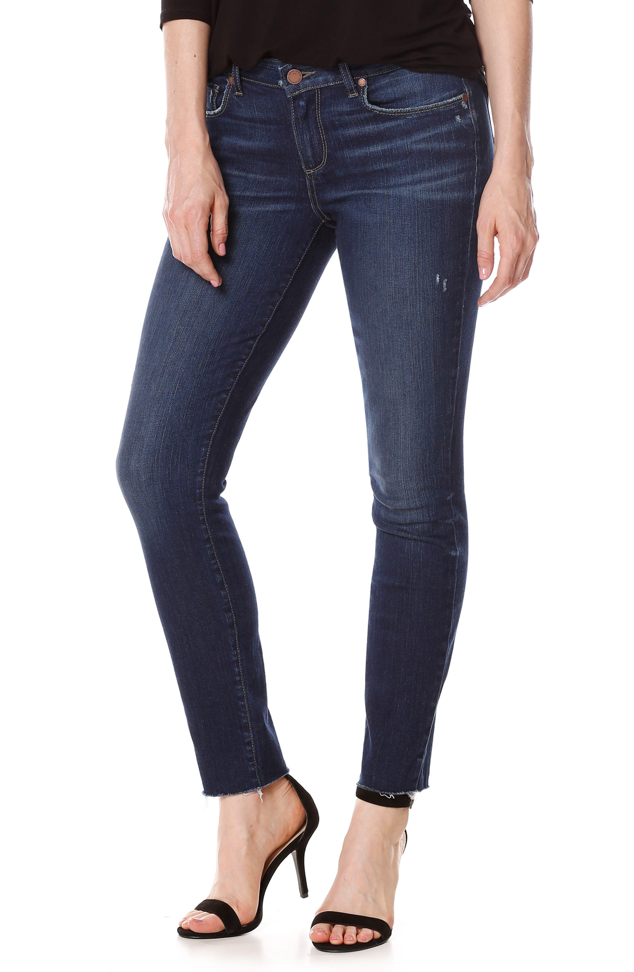PAIGE Margot High Waist Ankle Ultra Skinny Jeans (Anika)