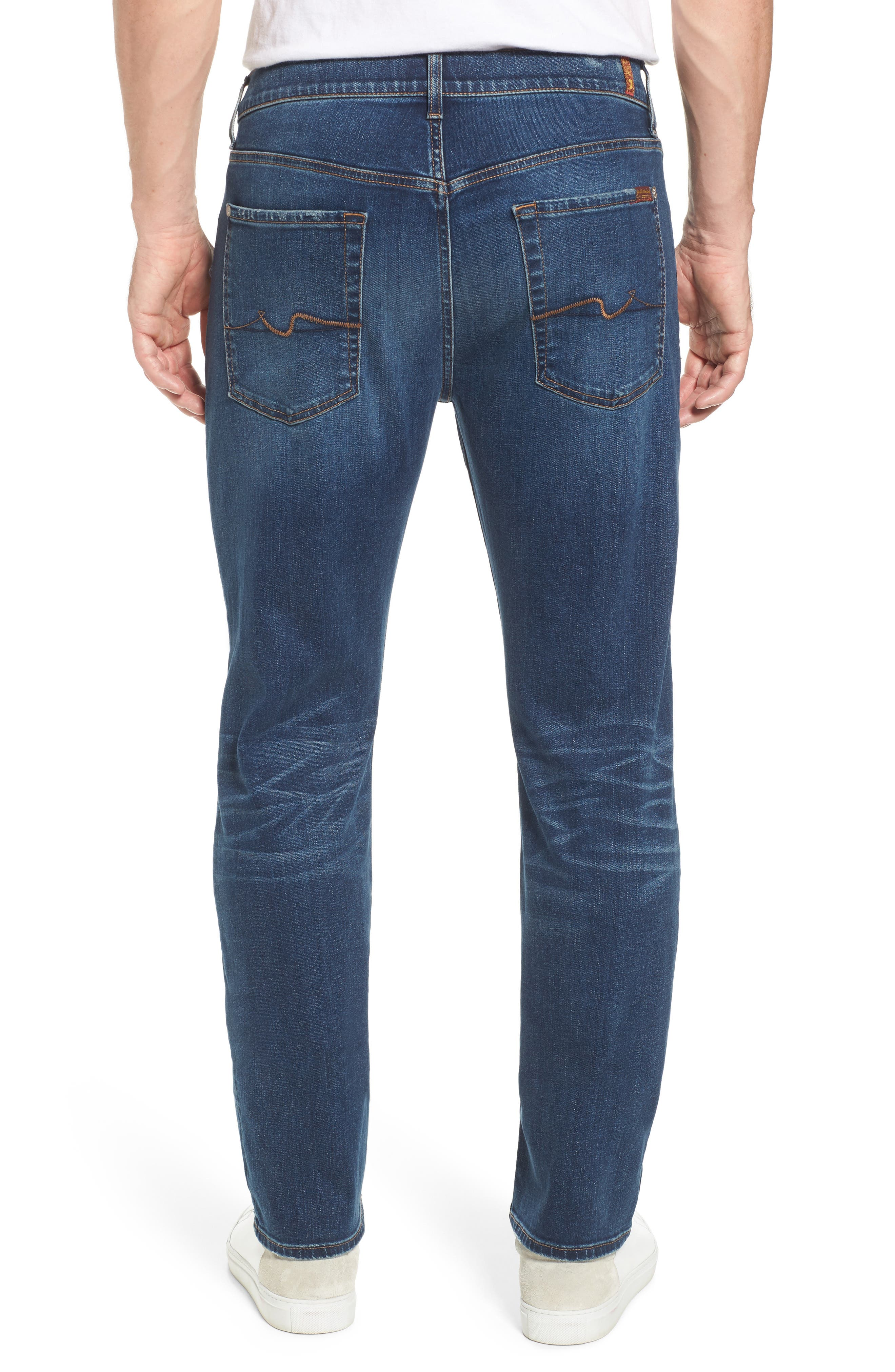 Alternate Image 2  - 7 For All Mankind® The Straight - Luxe Performance Slim Straight Leg Jeans (Union)