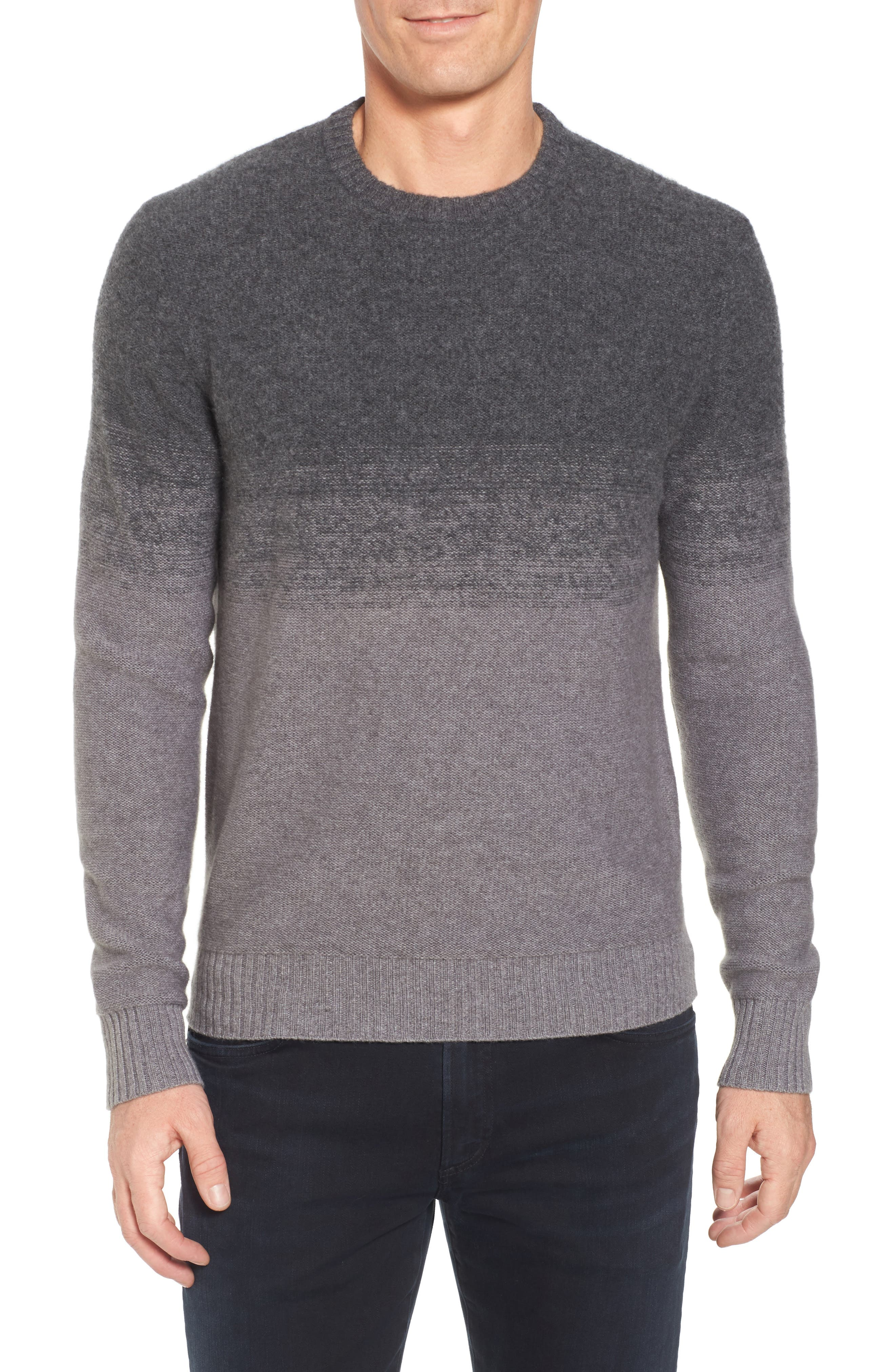 Monte Rosse Ombré Cashmere Sweater,                         Main,                         color, Grey Filigree Hthr Ombre