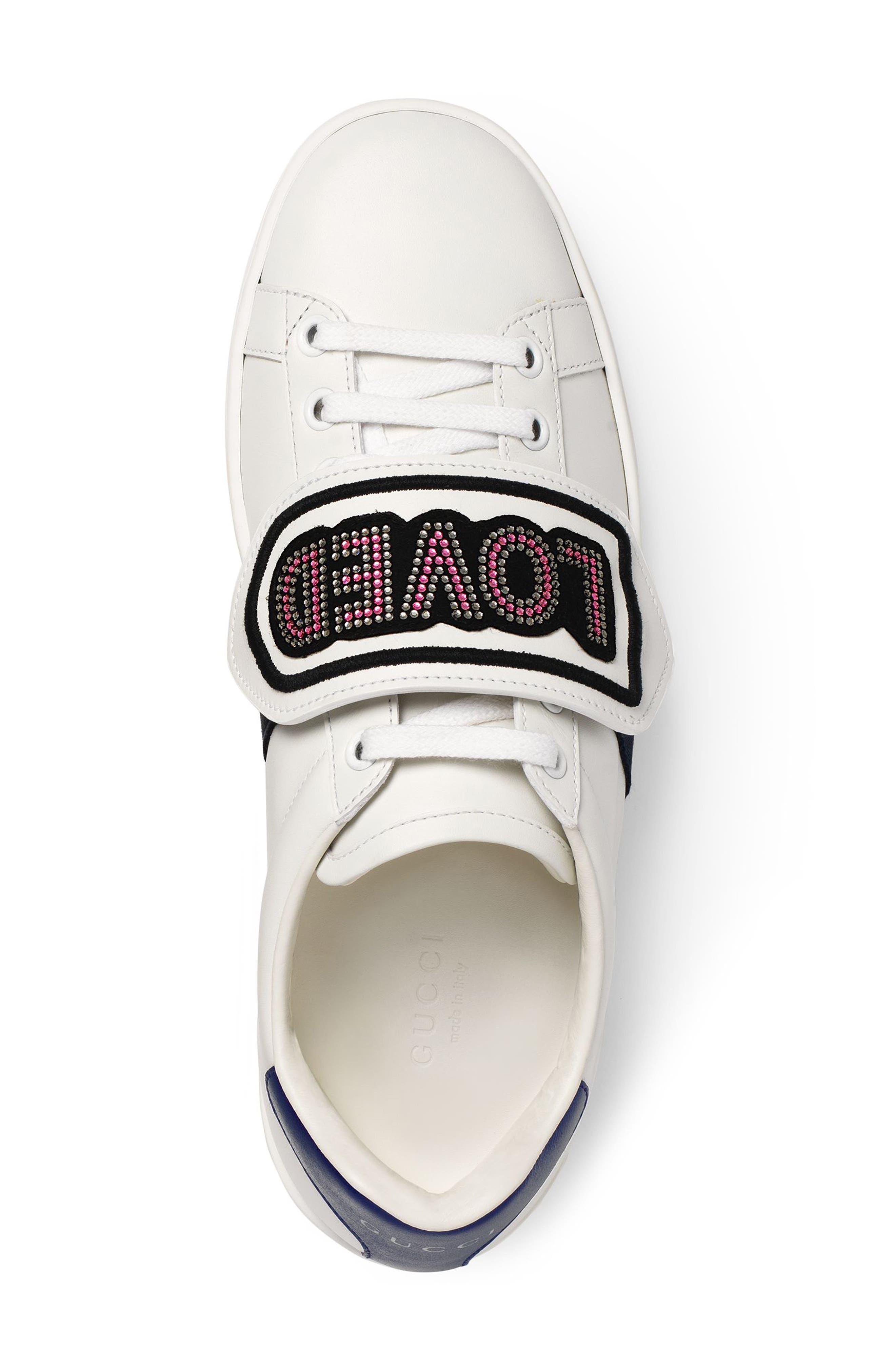 New Ace Loved Sneaker,                             Alternate thumbnail 3, color,                             White