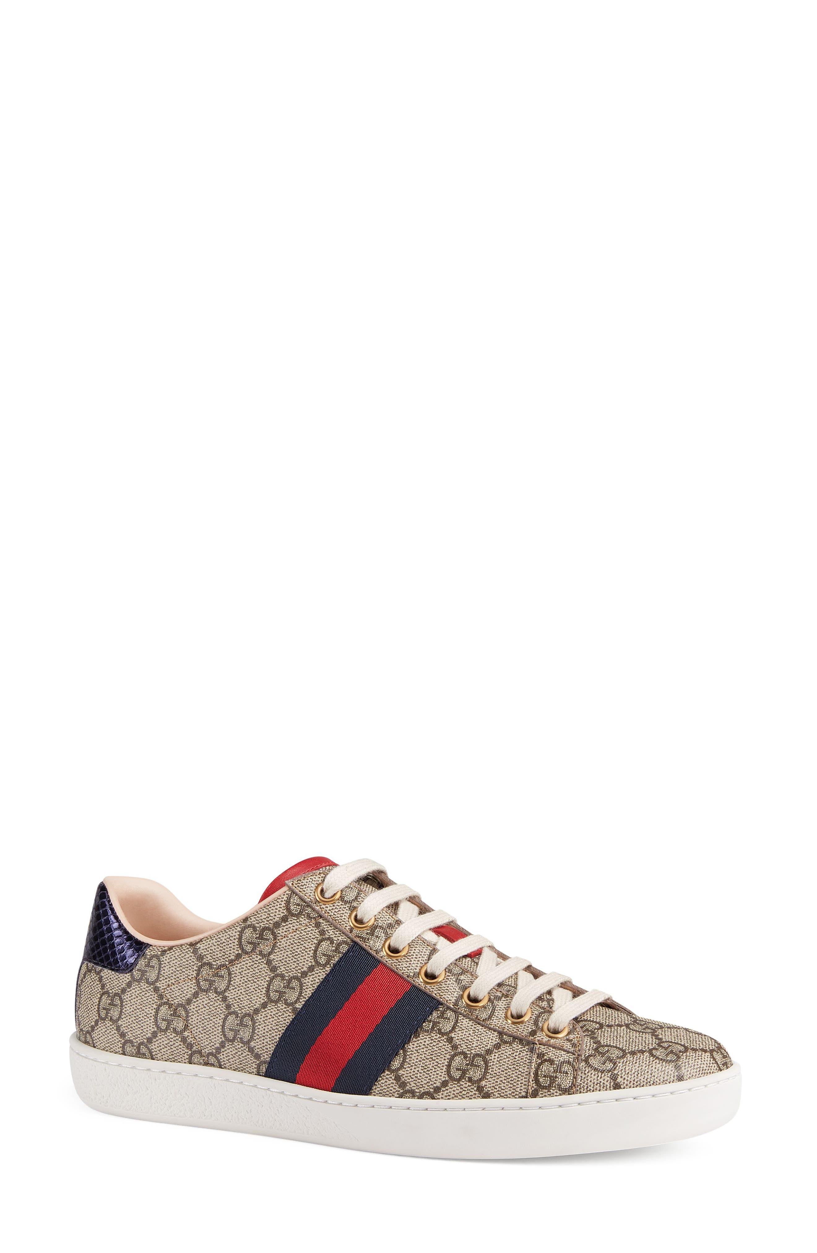 New Ace GG Supreme Sneaker,                         Main,                         color, Beige