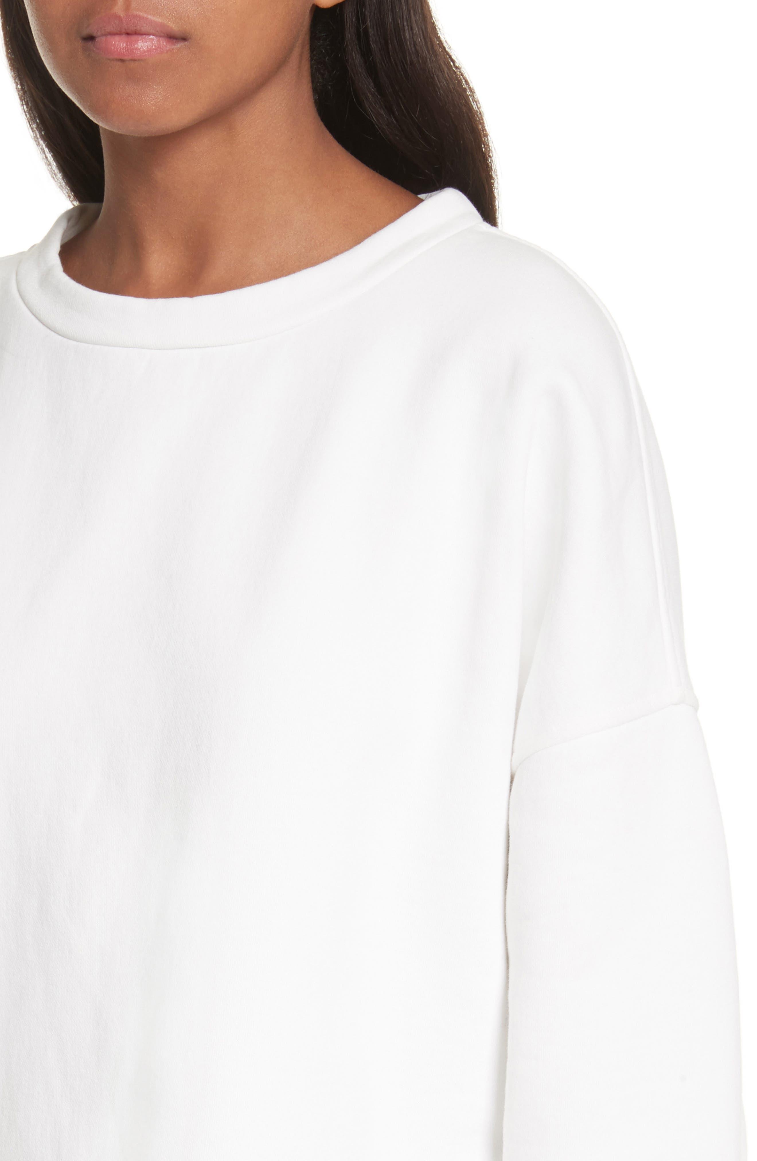 Mock Neck Sweatshirt,                             Alternate thumbnail 4, color,                             Vanilla