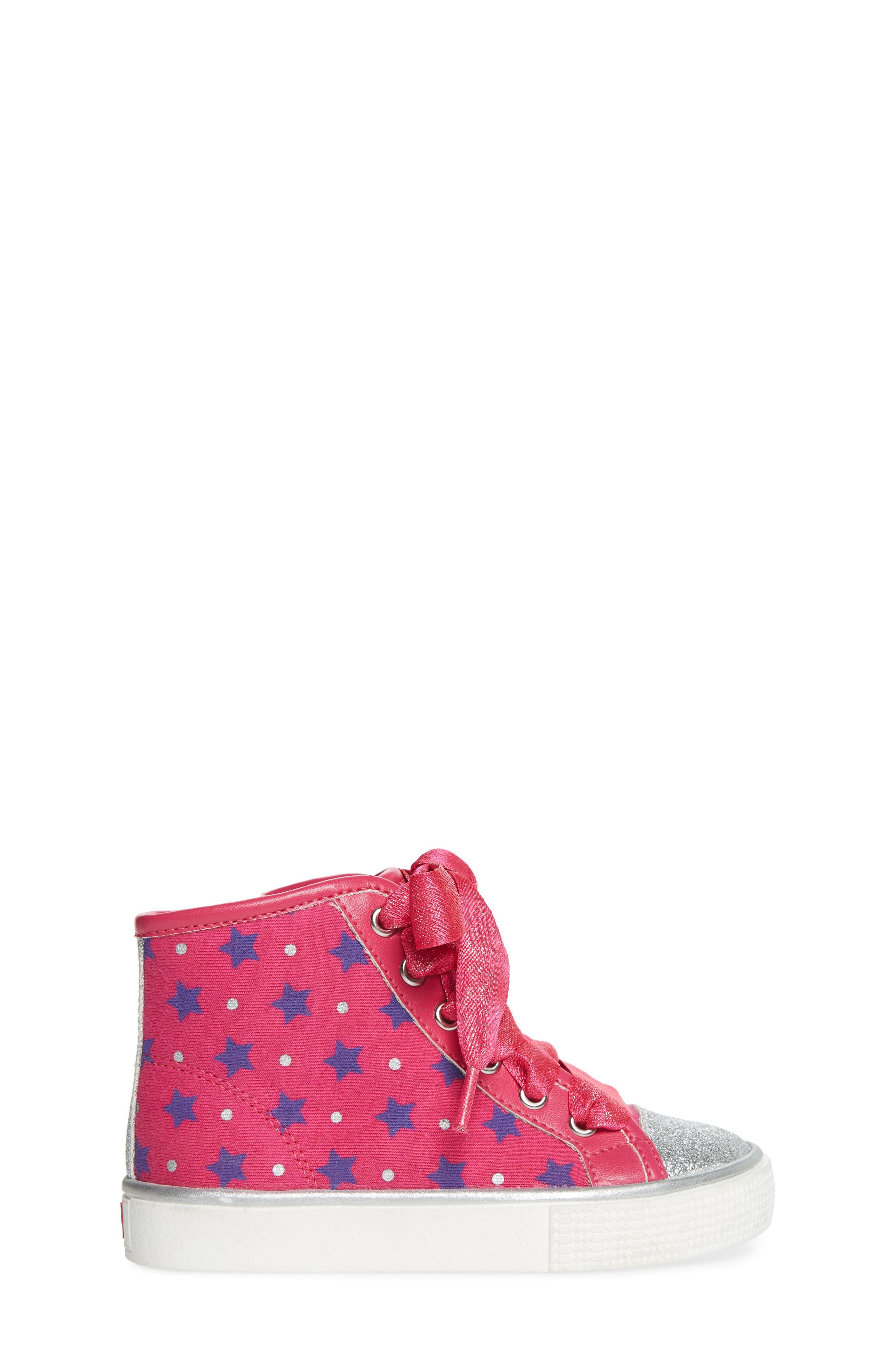 Emerson High Top Sneaker,                             Alternate thumbnail 3, color,                             Pink/ Purple
