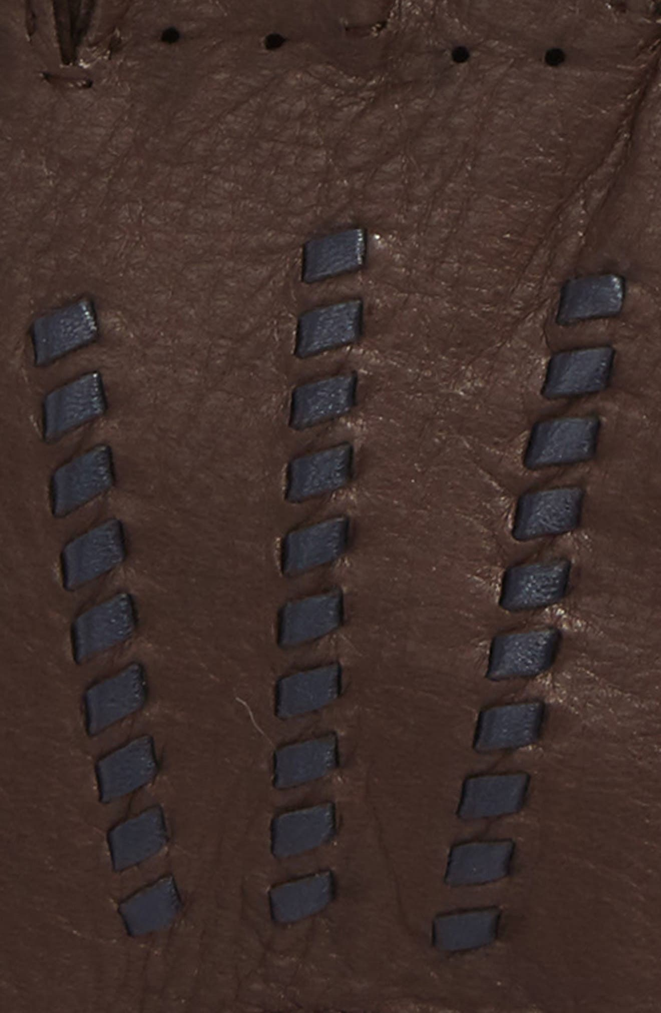 Deerskin Driving Gloves,                             Alternate thumbnail 2, color,                             Chocolate