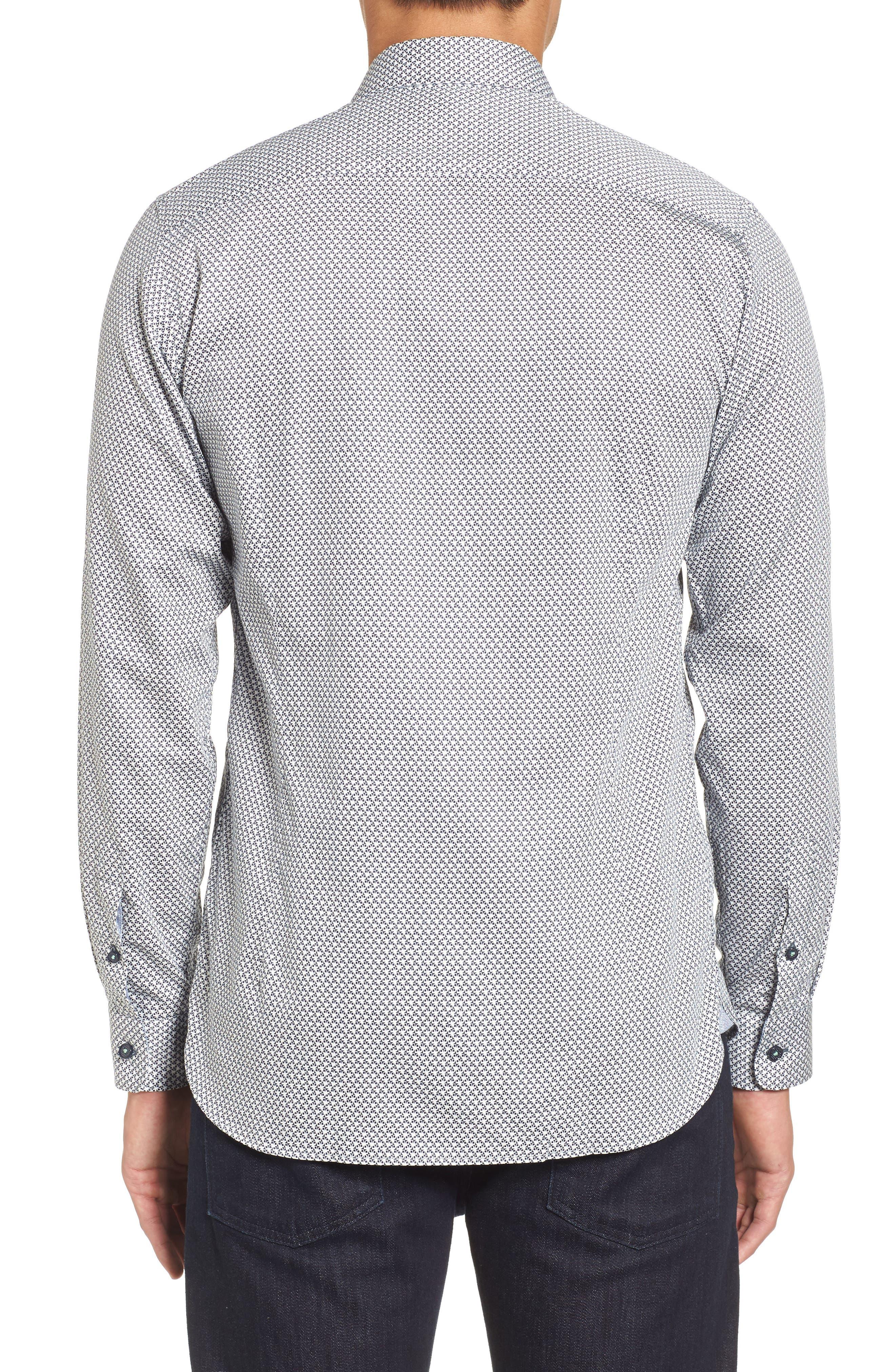 Alternate Image 2  - Ted Baker London Vilamor Extra Slim Fit Print Sport Shirt
