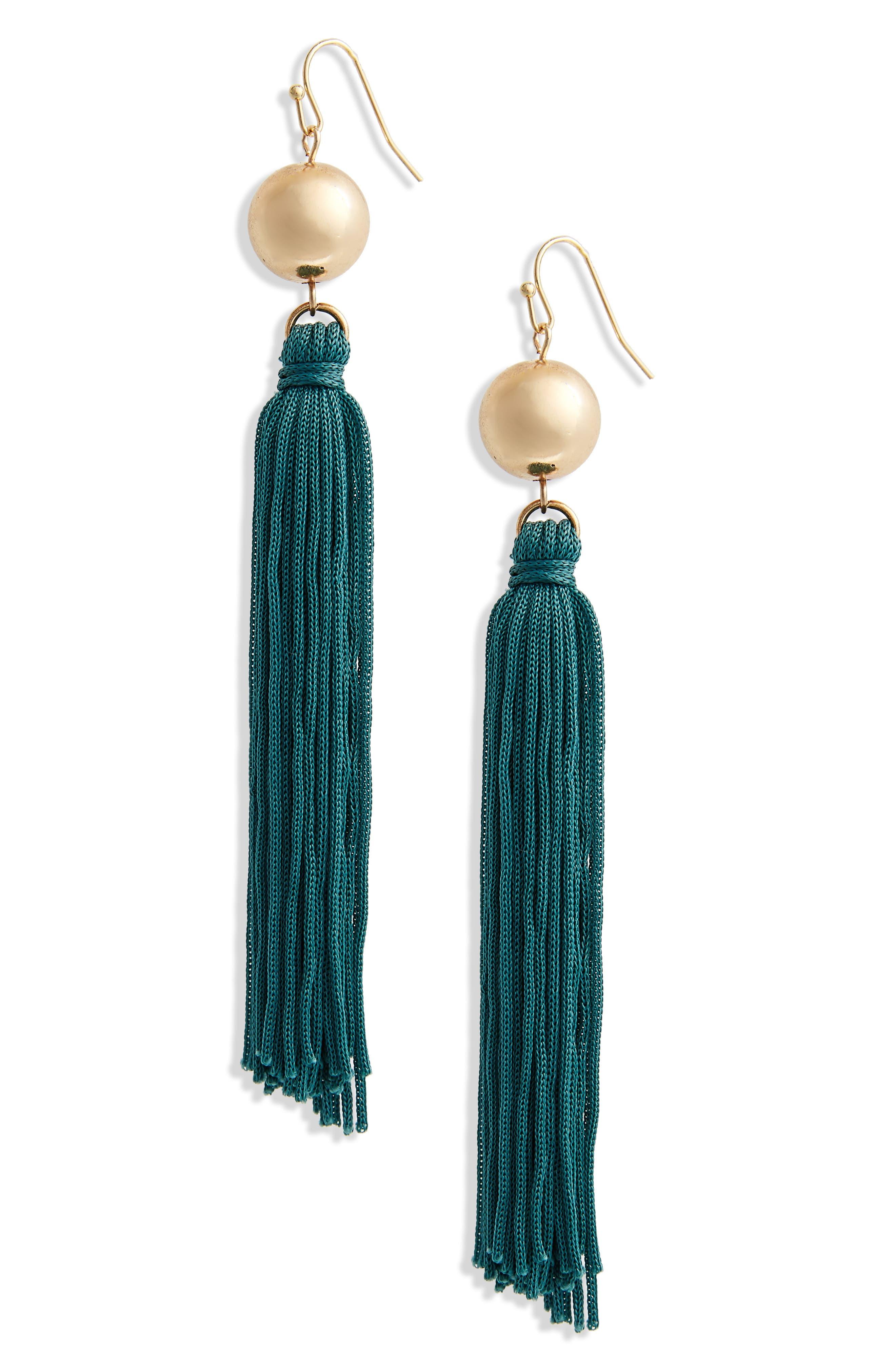 BP. Ball & Tassel Drop Earrings