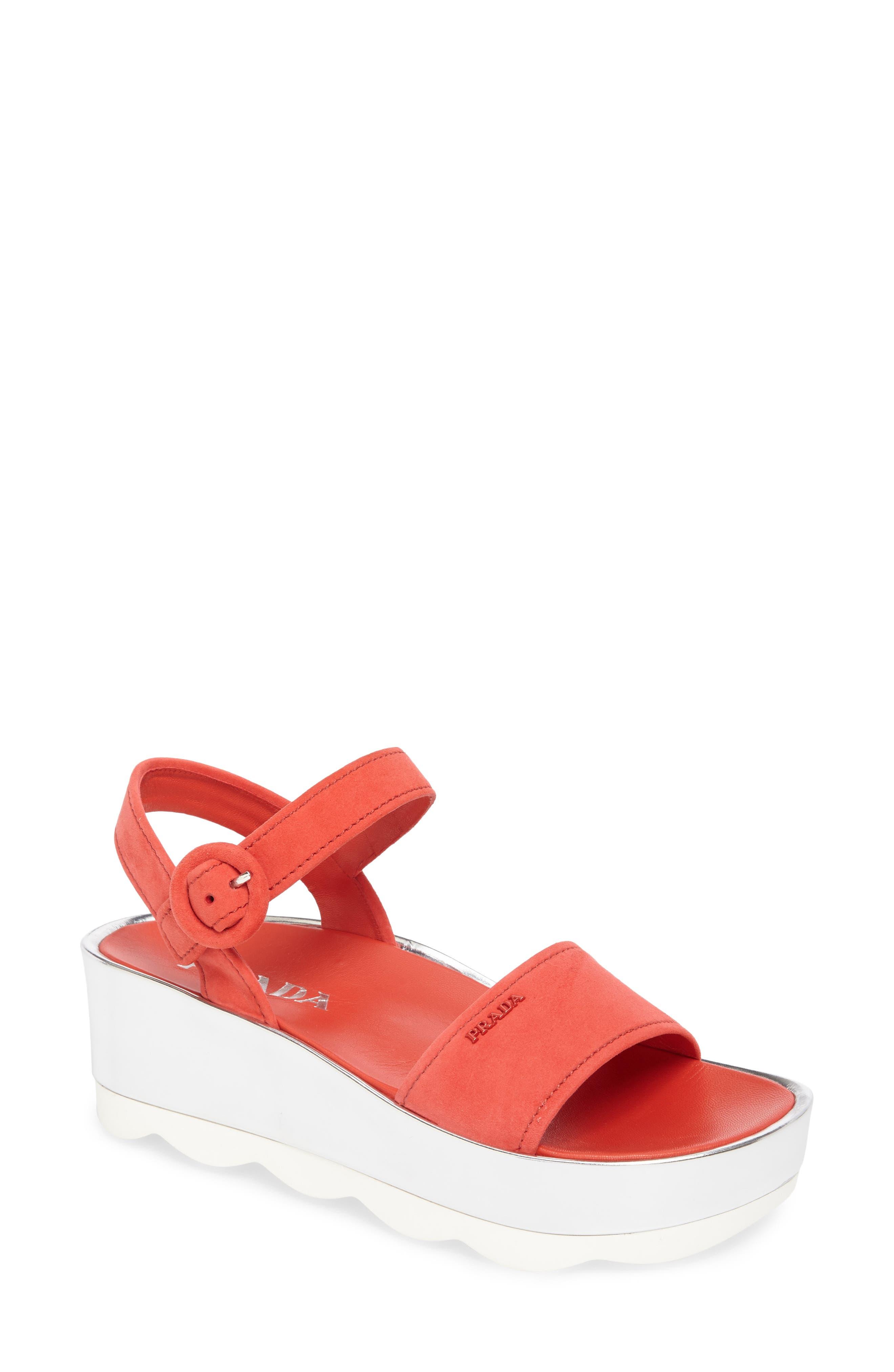 Main Image - Prada Platform Sandal (Women)