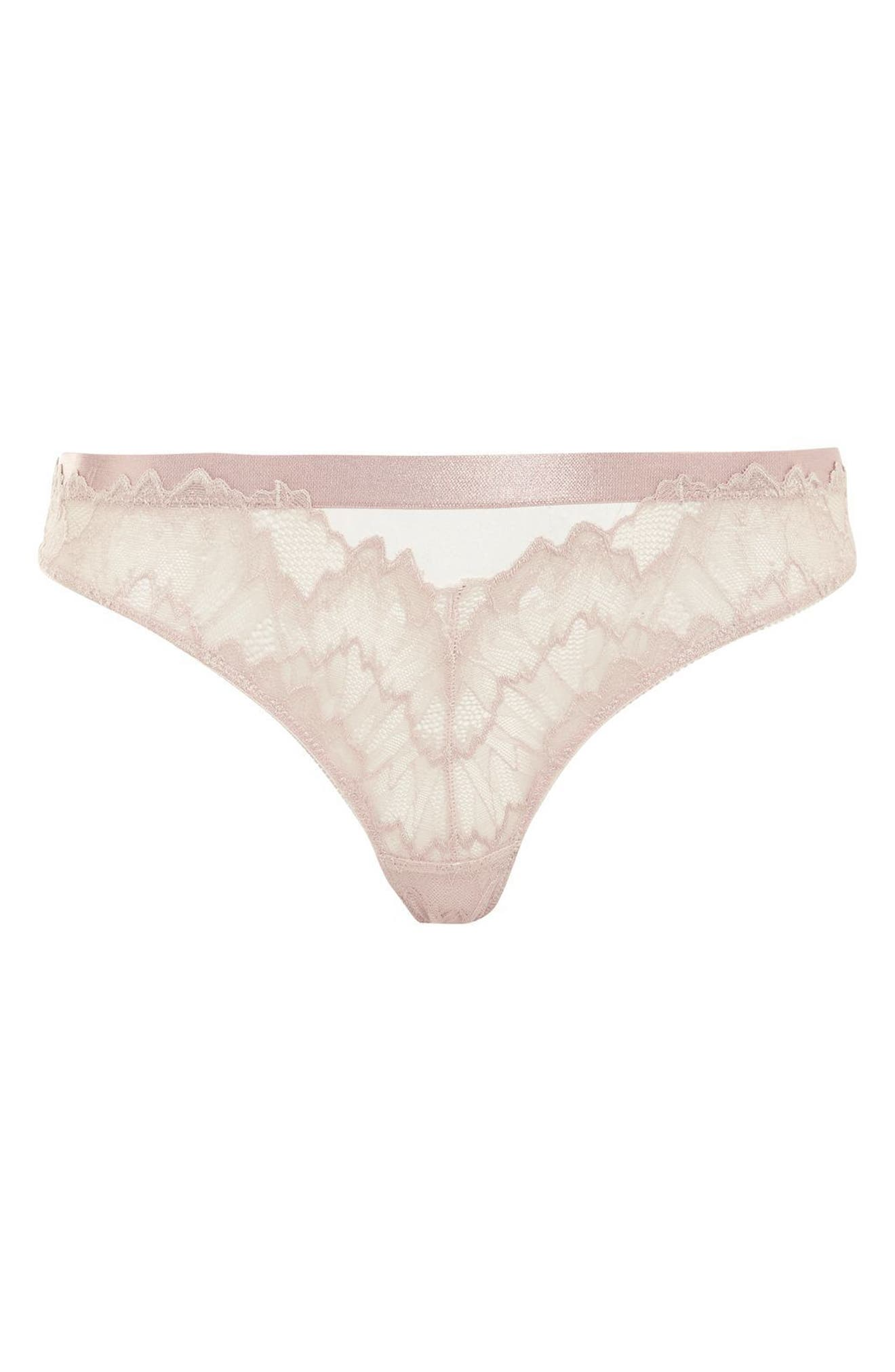 Verena Lace Thong,                             Alternate thumbnail 3, color,                             Cream