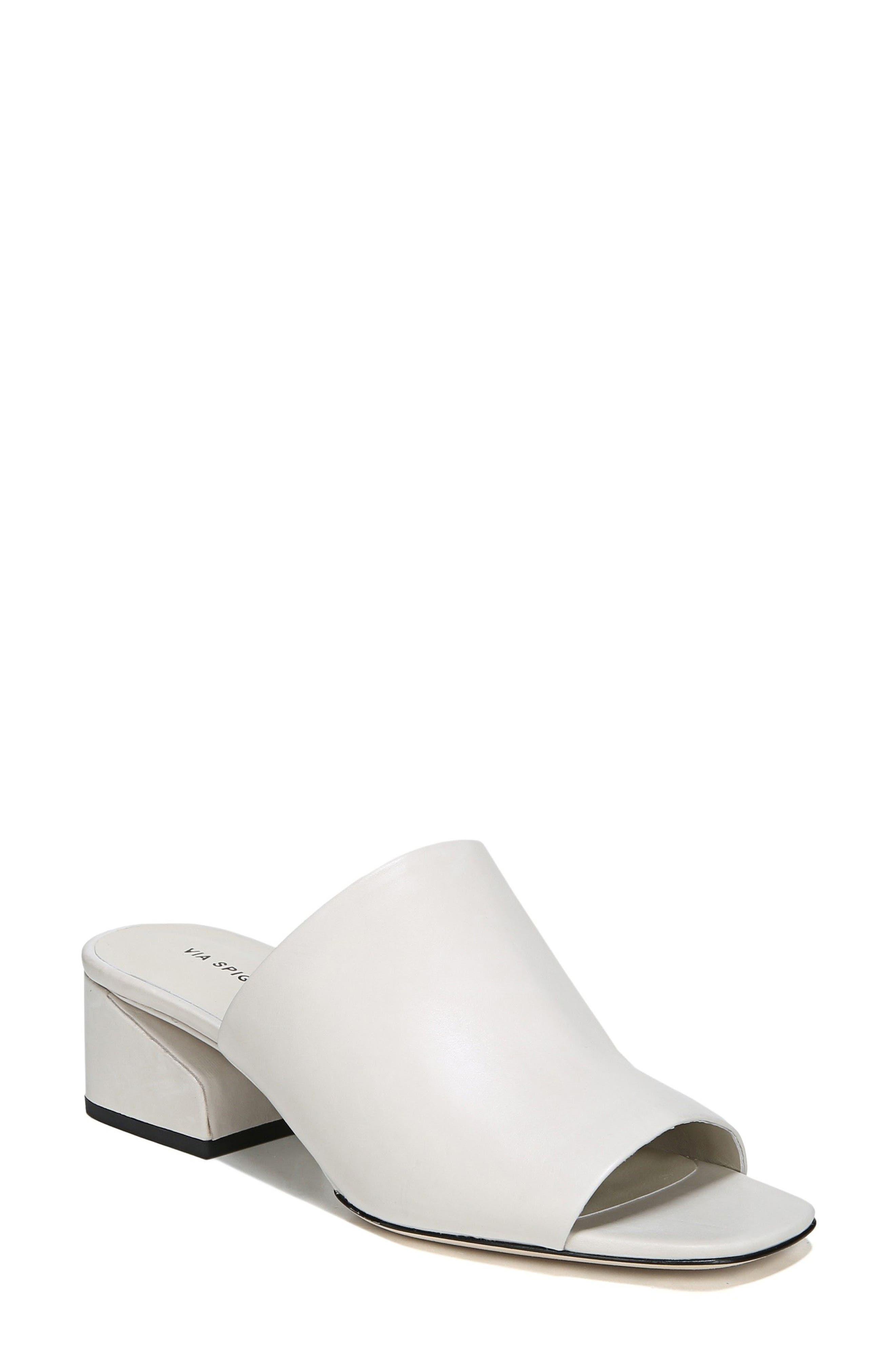 Porter Peep Toe Mule,                         Main,                         color, Bone Leather