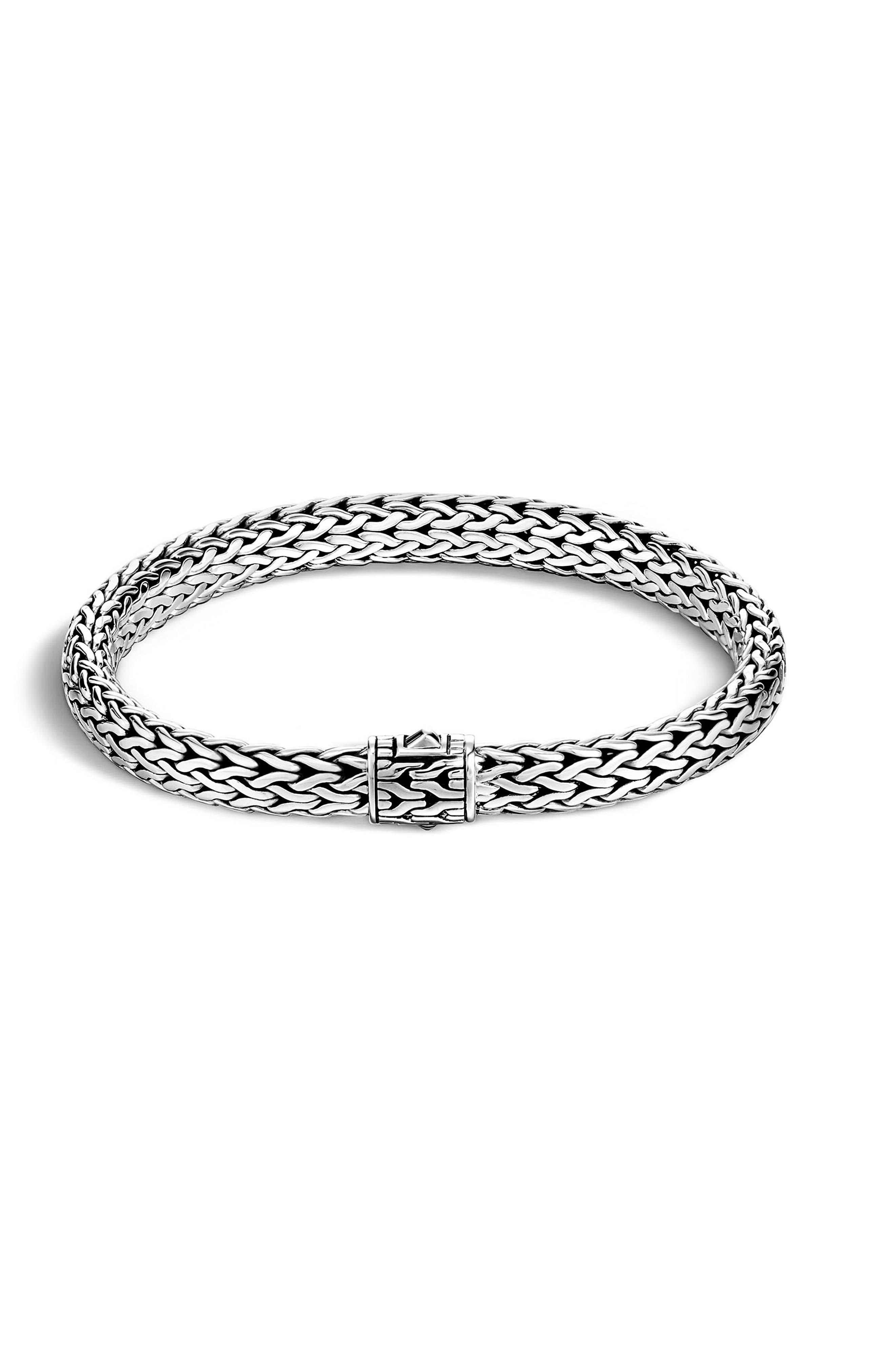 John Hardy Reversible 7.5Mm Bracelet, Black Sapphire, White Mother Of Pearl S White mother of pearl