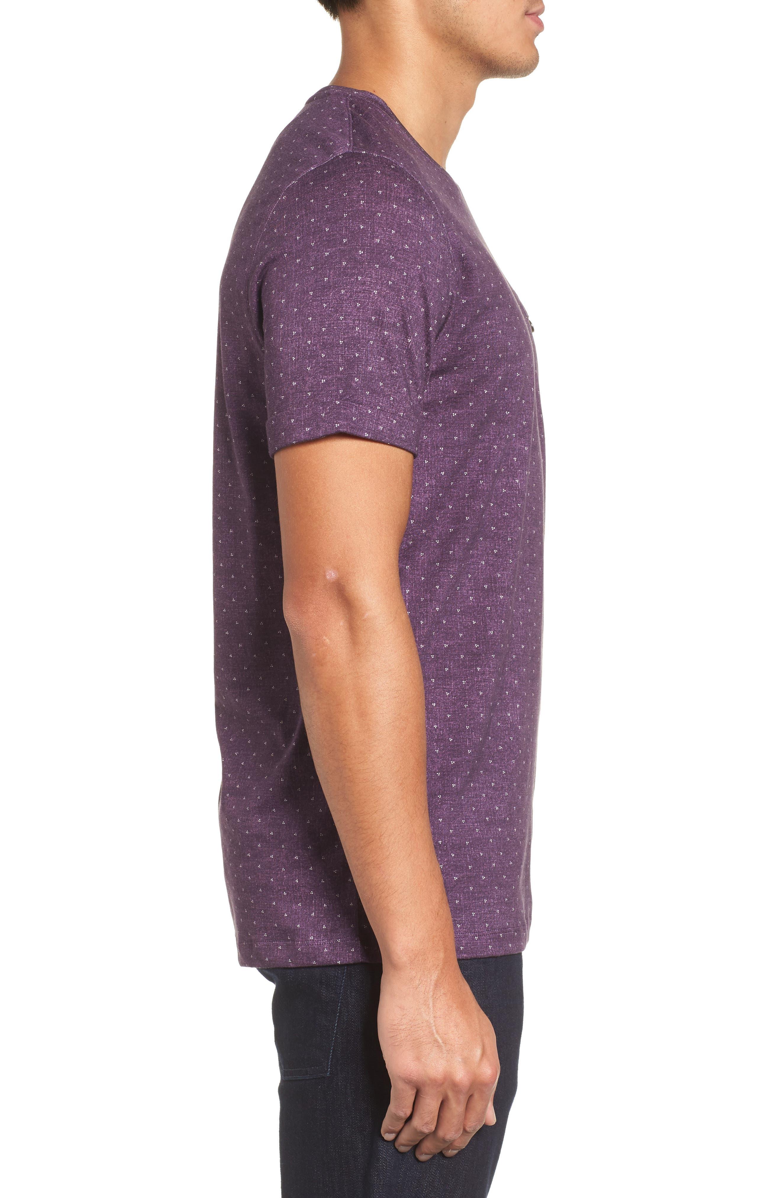 Giovani Modern Slim Fit Print T-Shirt,                             Alternate thumbnail 3, color,                             Purple