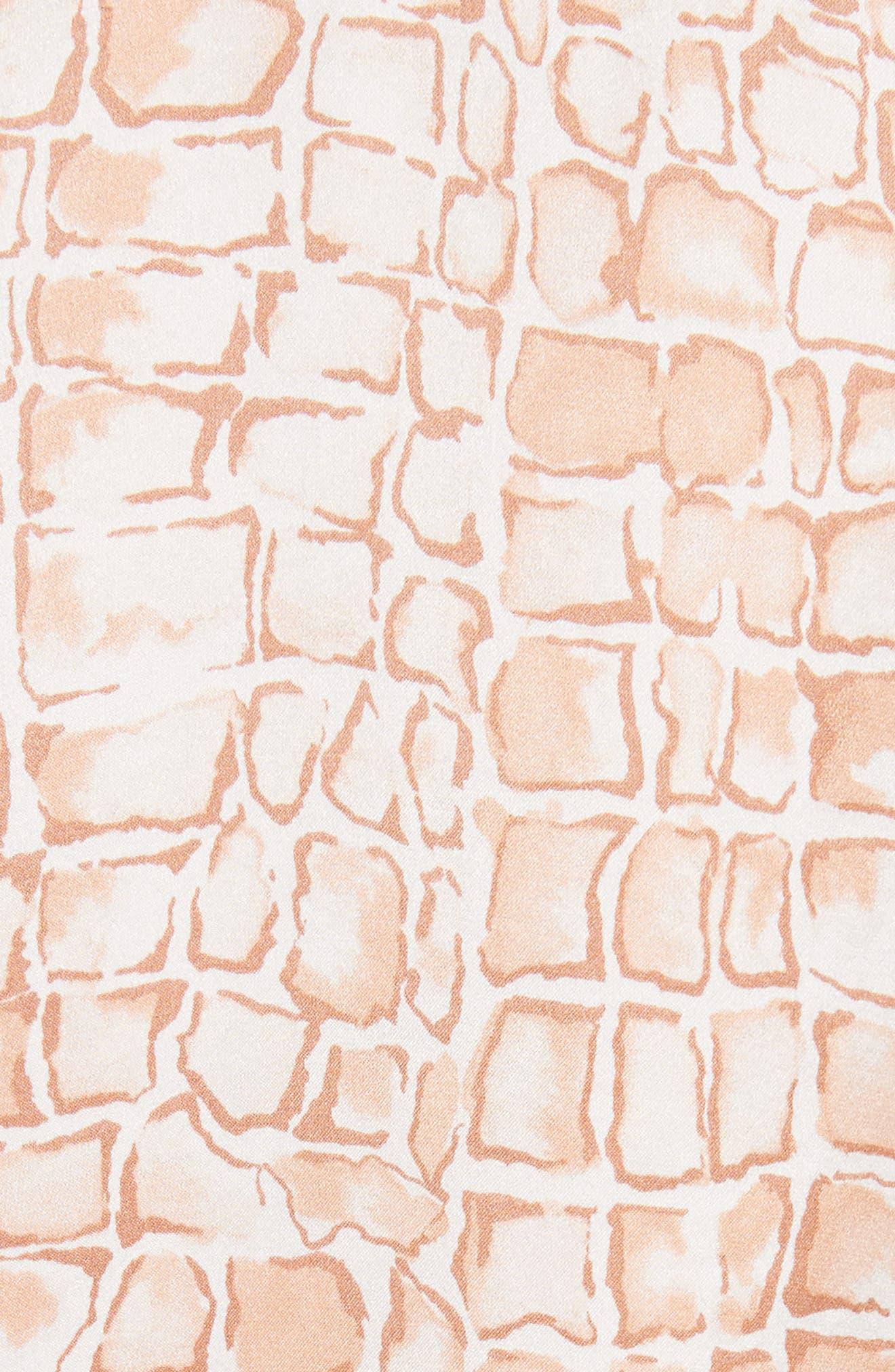 Huntley Silk Blouse,                             Alternate thumbnail 5, color,                             Flushed Multi
