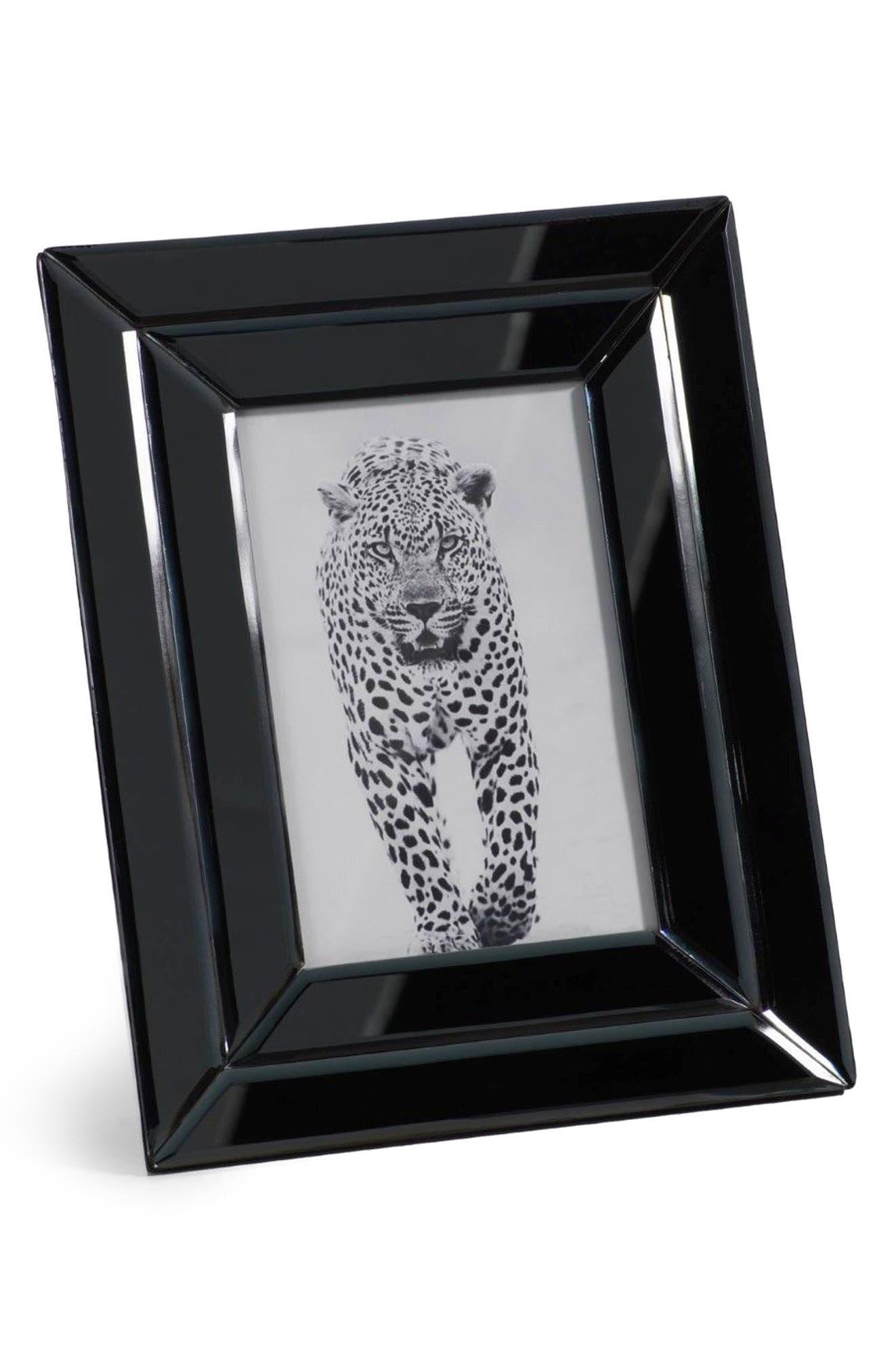 Smoke Glass Picture Frame,                             Main thumbnail 1, color,                             Black