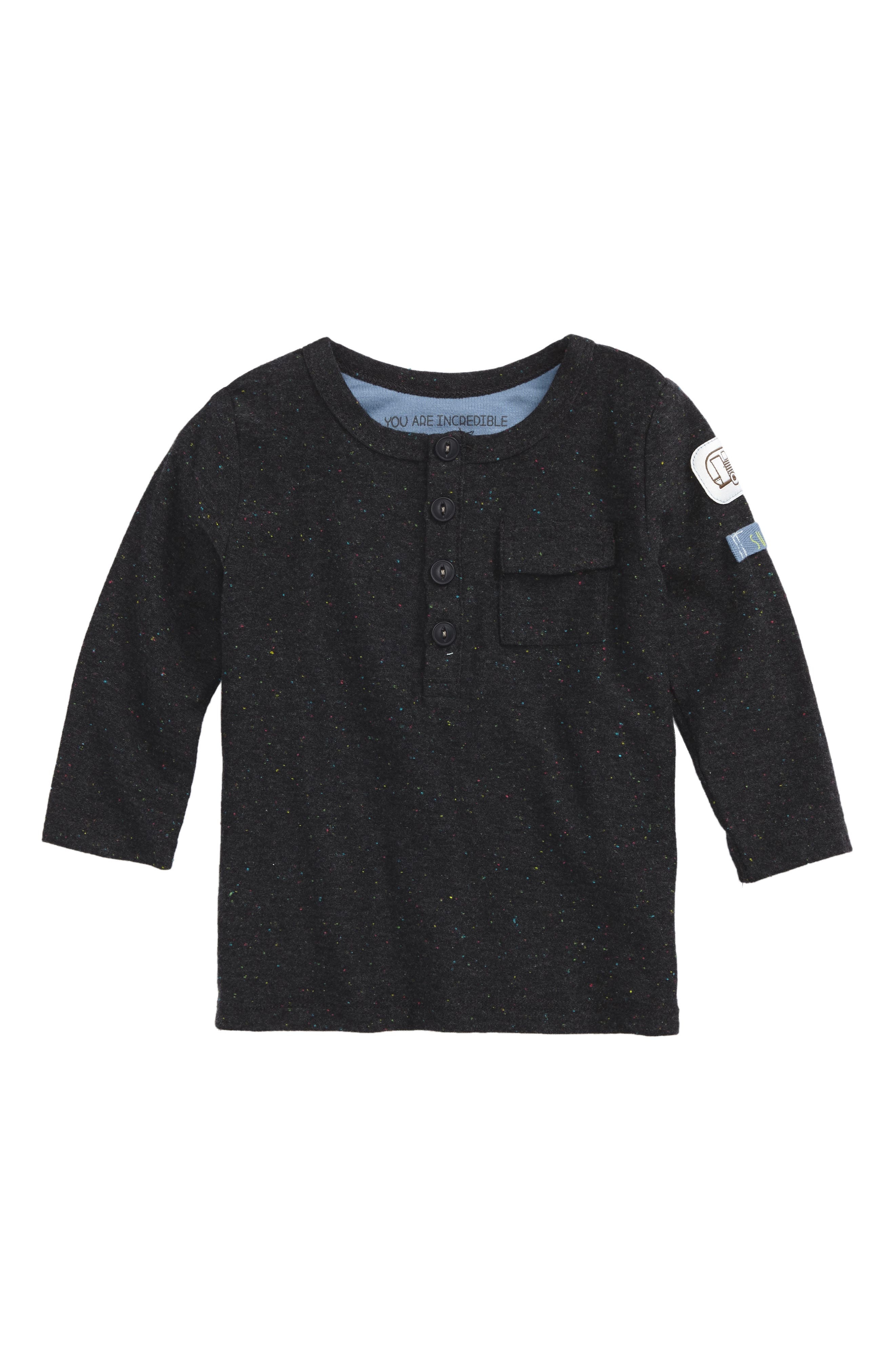 Robeez® Speckled Henley Shirt (Baby Boys)