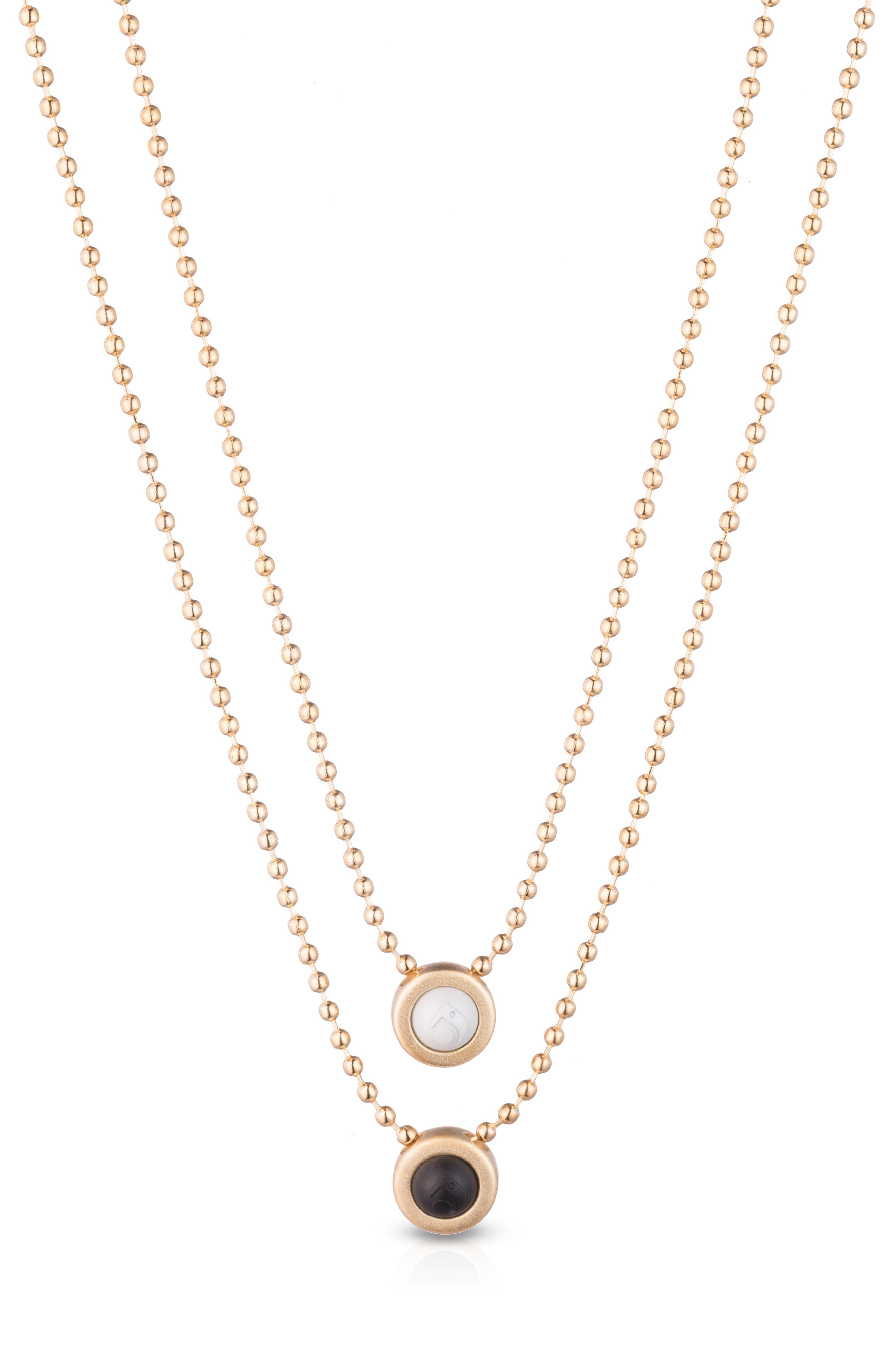Double Ball Chain Pendant Necklace,                         Main,                         color, Gold