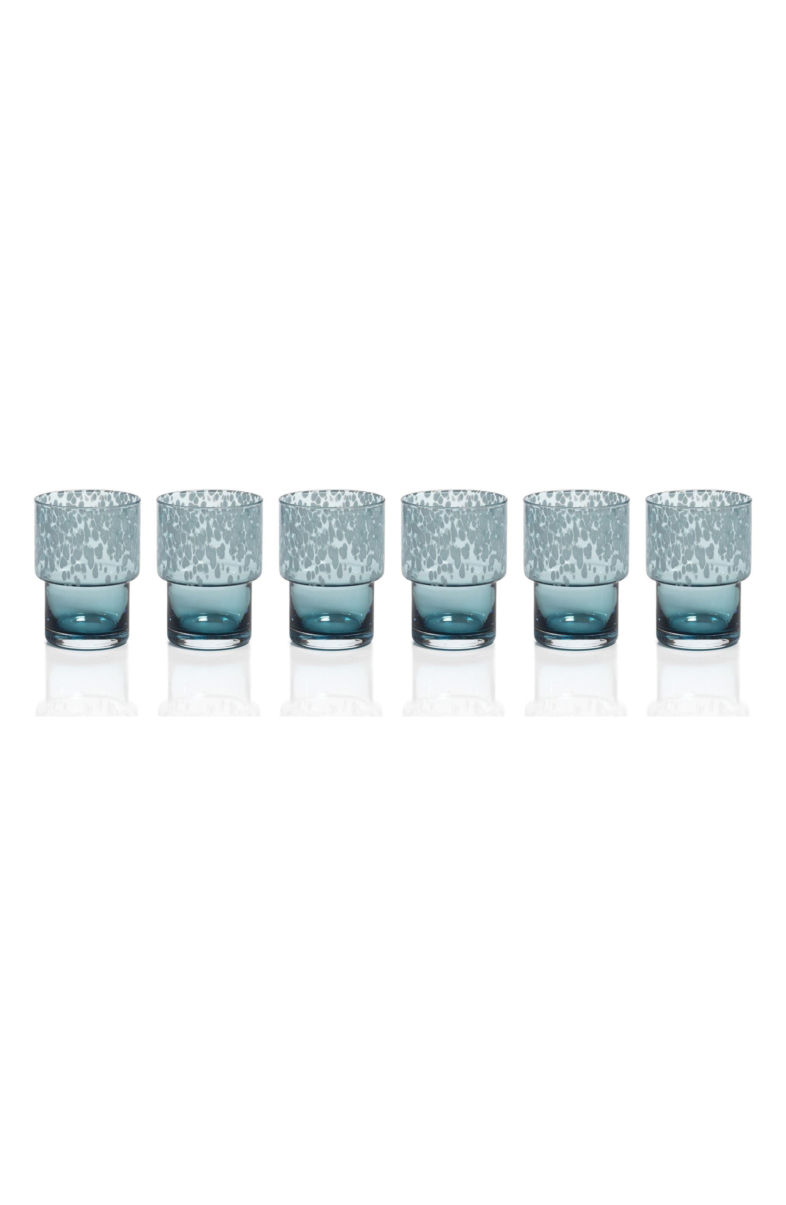 Set of 6 Double Old Fashioned Glasses,                         Main,                         color, Blue
