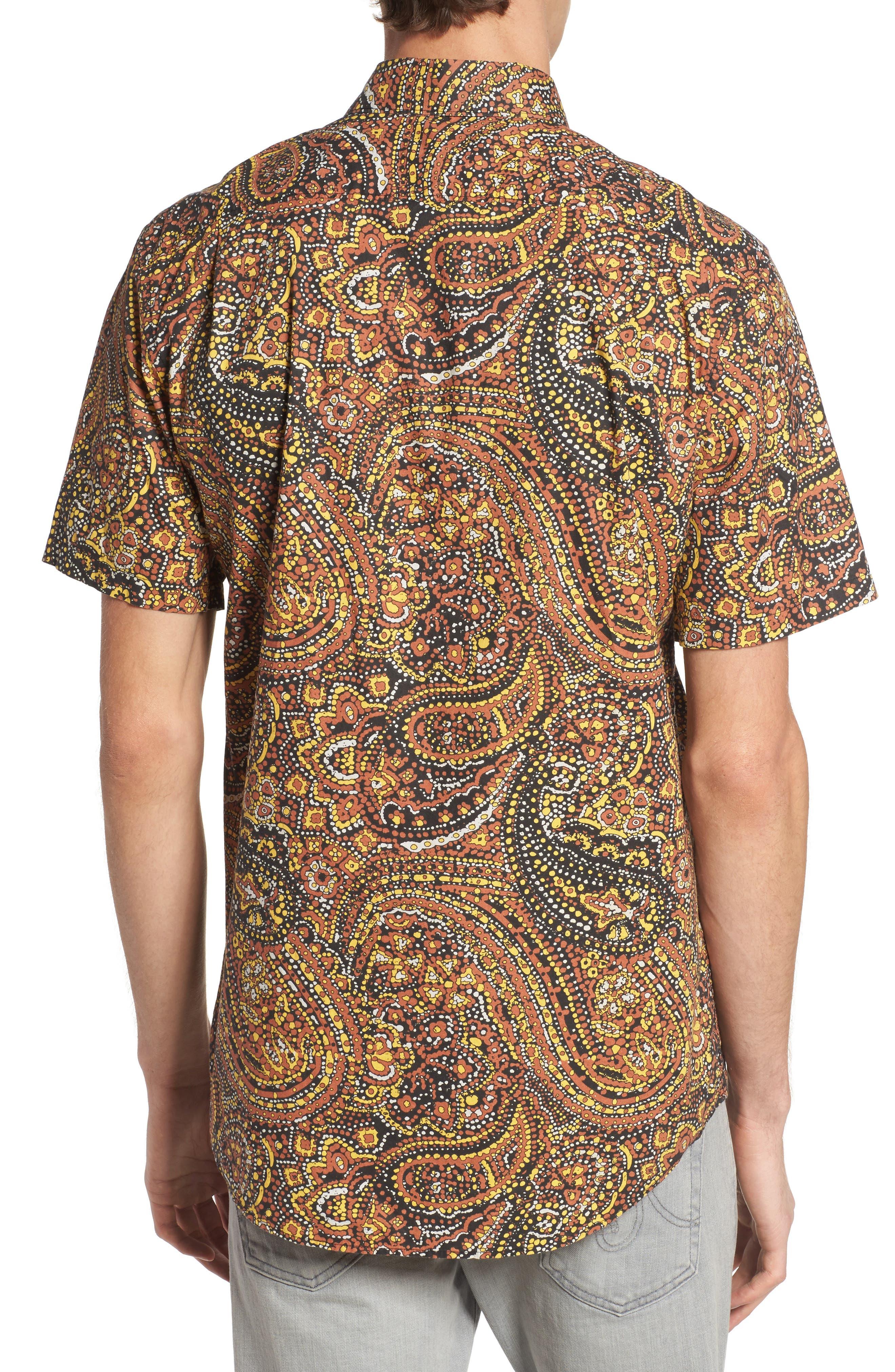 Sundays Woven Shirt,                             Alternate thumbnail 2, color,                             Brick