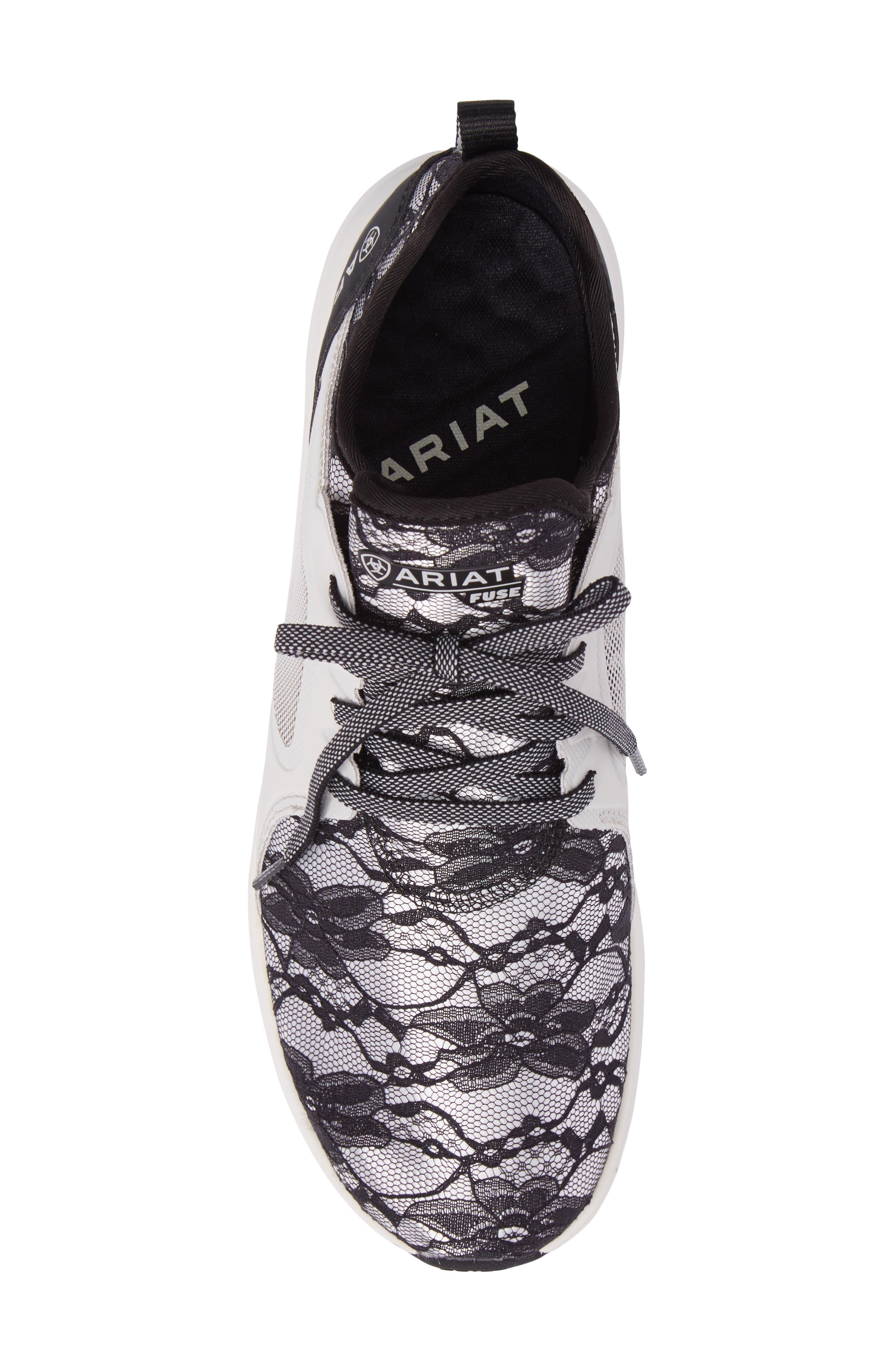 Fuse Print Sneaker,                             Alternate thumbnail 5, color,                             Black Lace