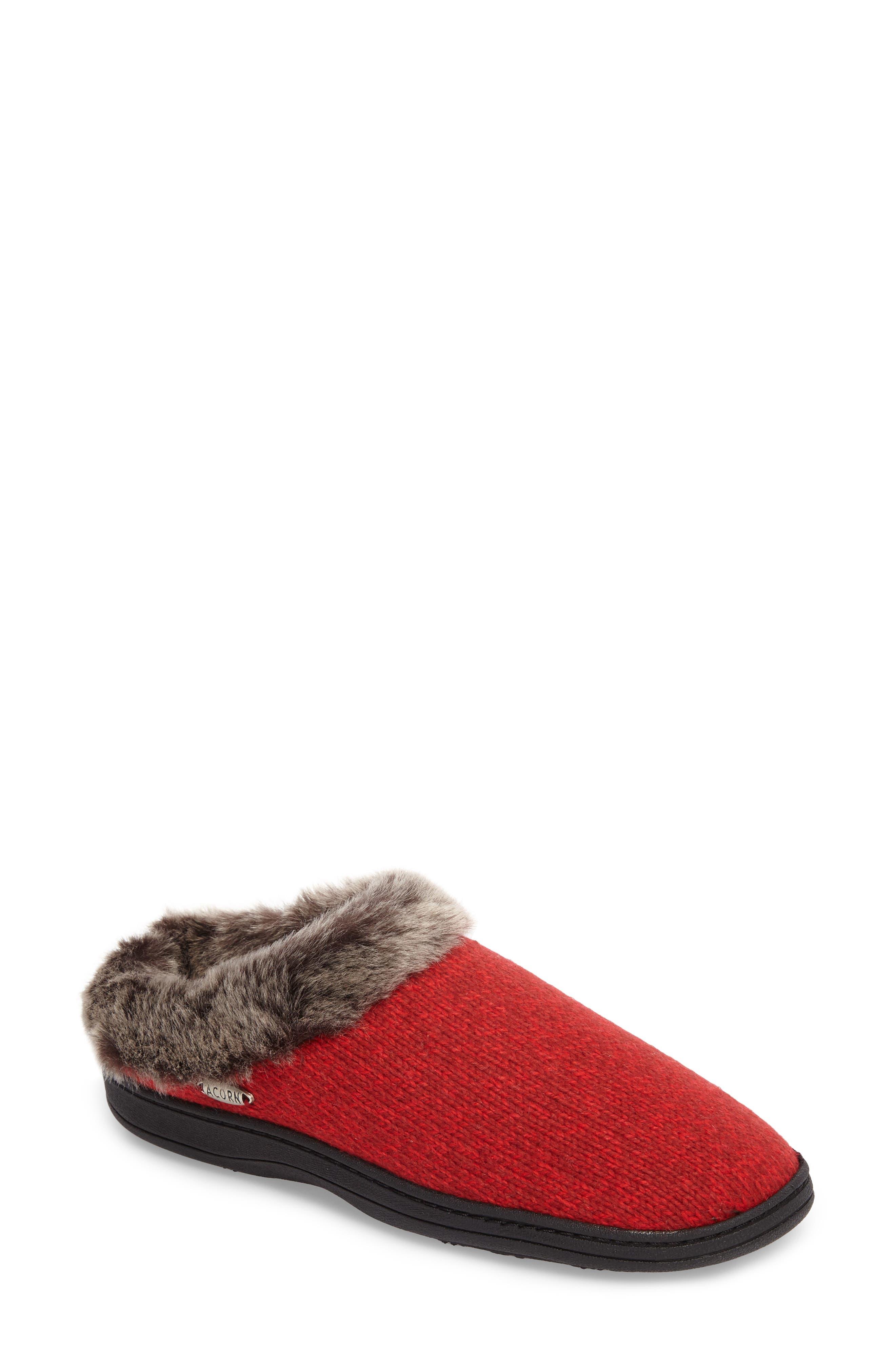 Acorn Chinchilla Faux Fur Slipper (Women)