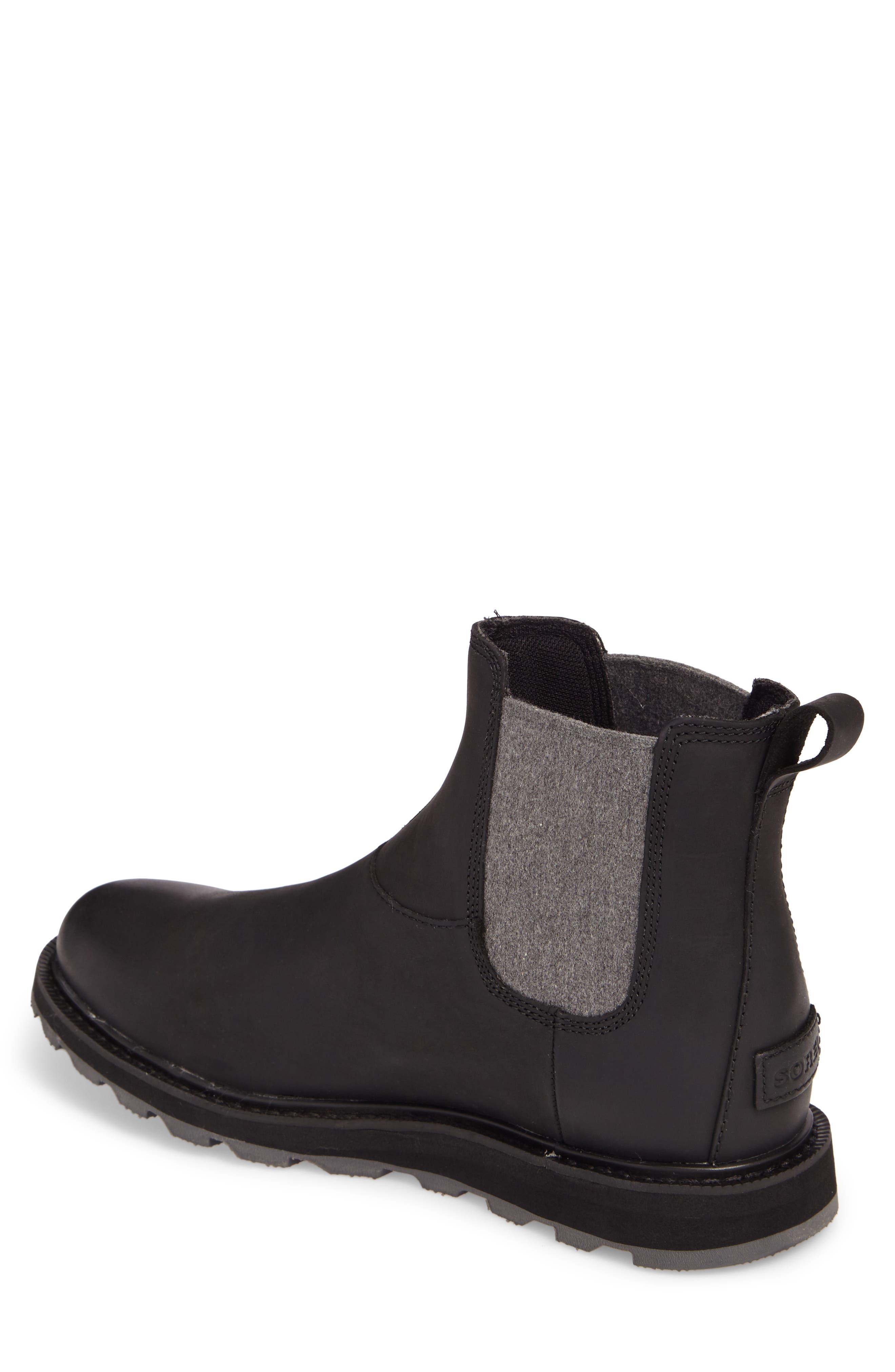 Madson Waterproof Chelsea Boot,                             Alternate thumbnail 2, color,                             Black