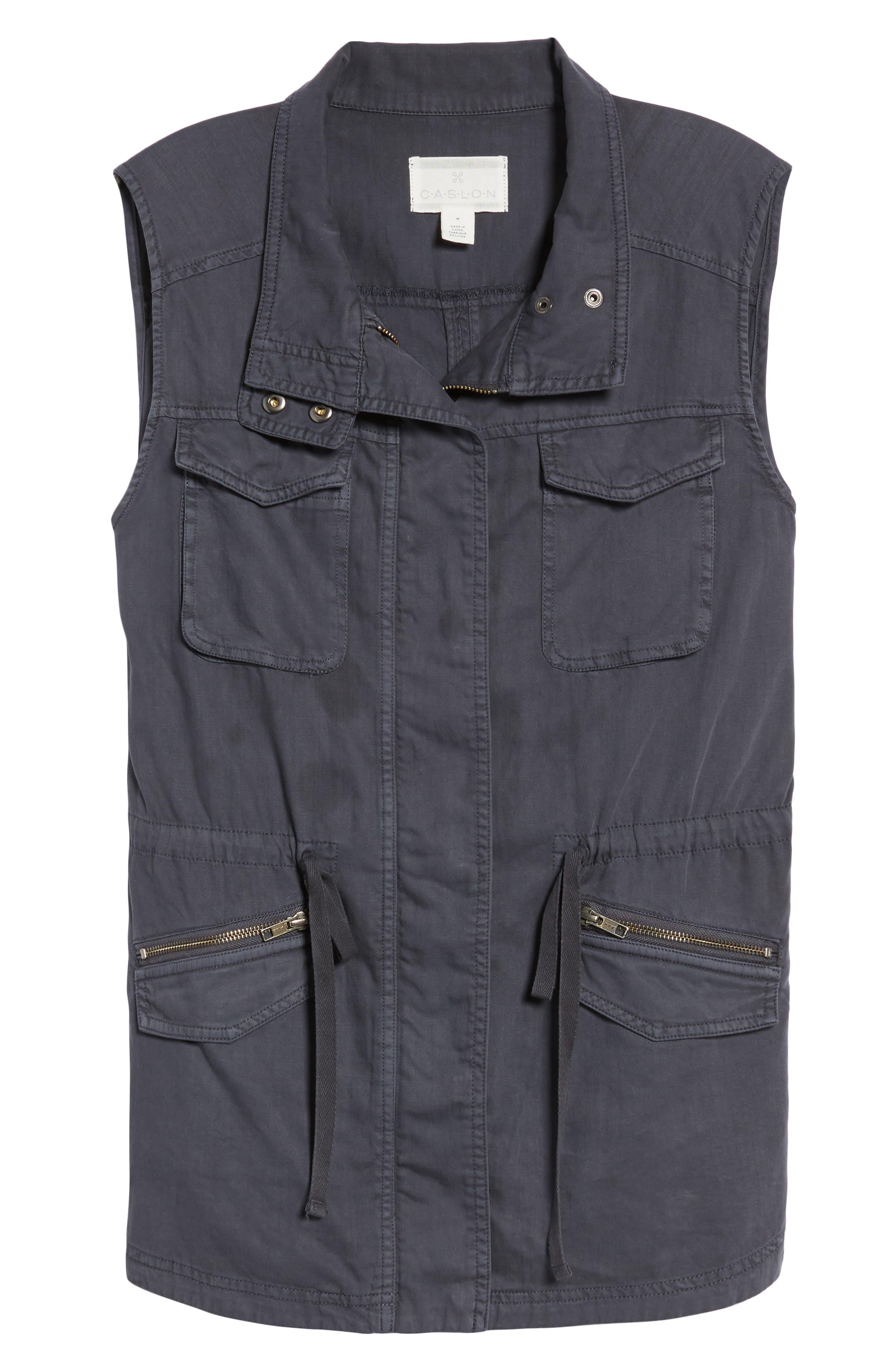 Utility Vest,                             Alternate thumbnail 7, color,                             Grey Ebony