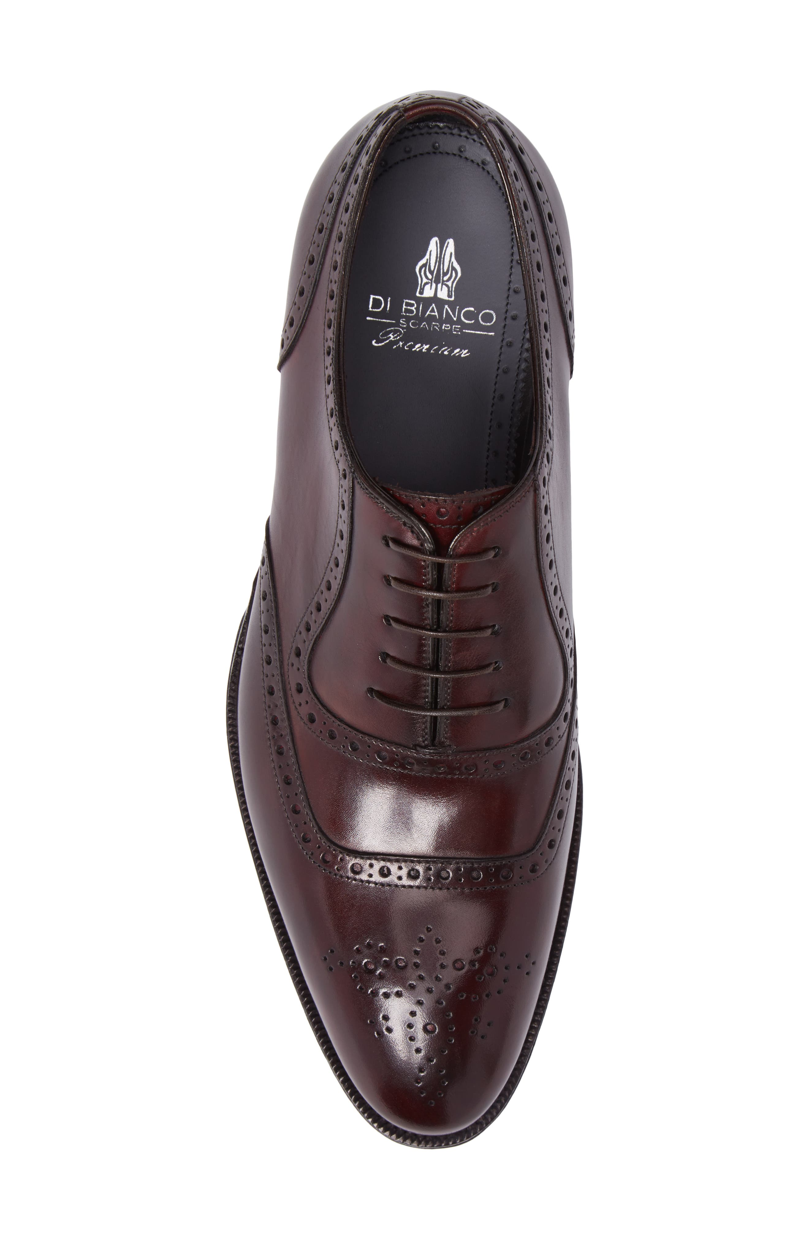 Medallion Toe Oxford,                             Alternate thumbnail 5, color,                             Anima Leather