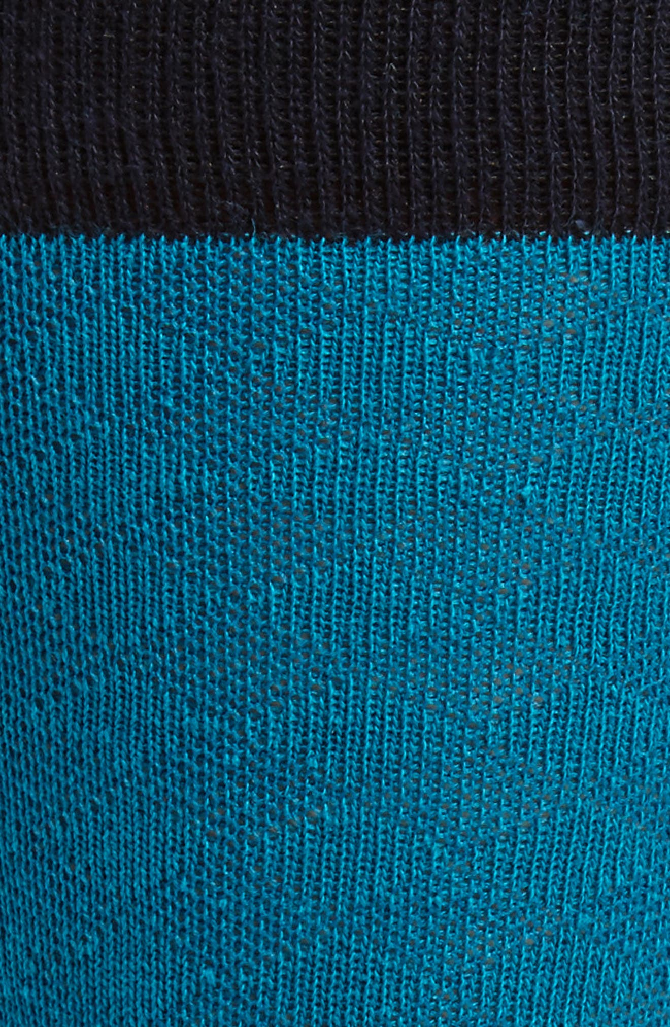 Oakwood Geometric Socks,                             Alternate thumbnail 2, color,                             Teal