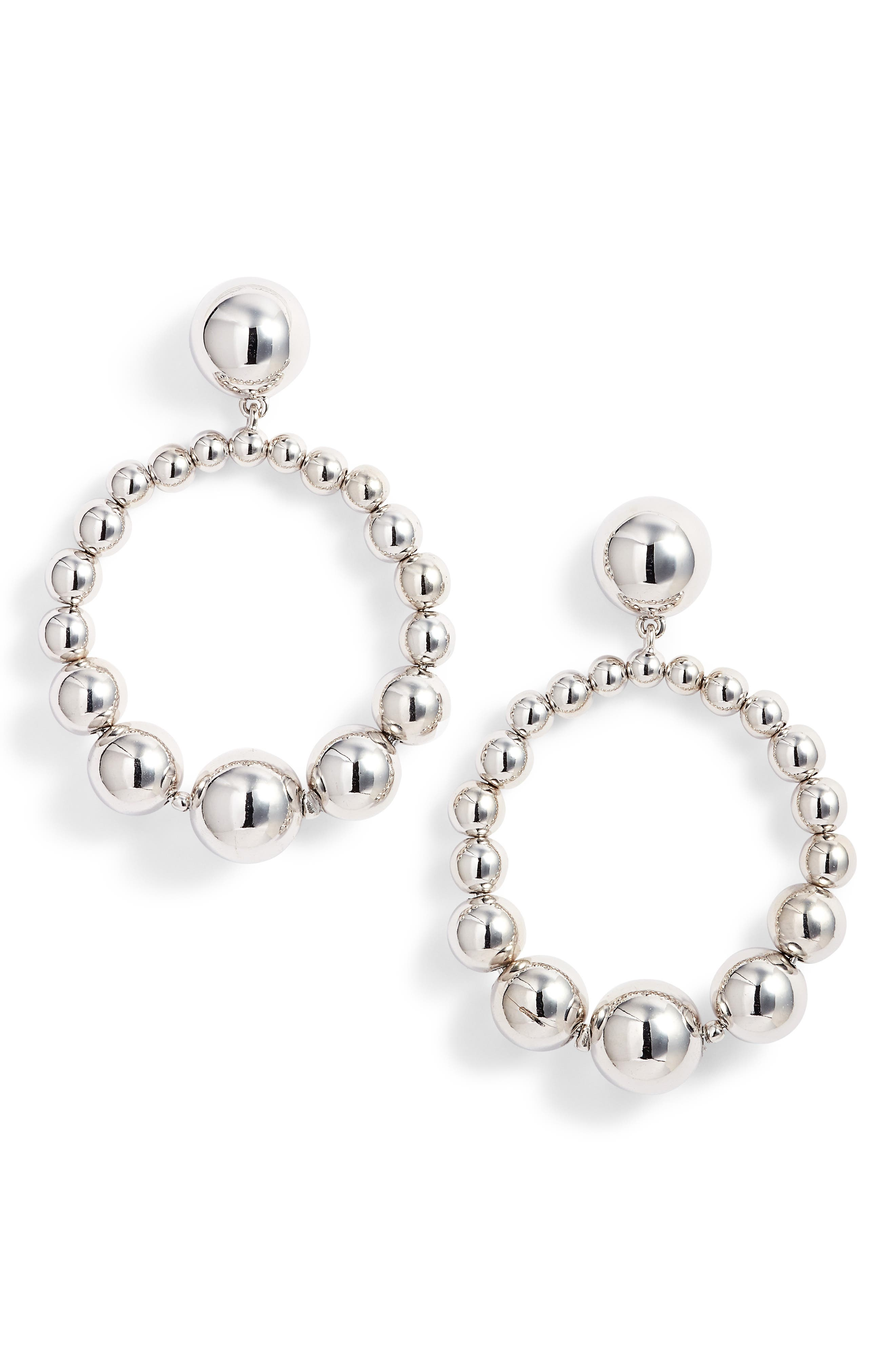light up the room hoop earrings,                         Main,                         color, Silver