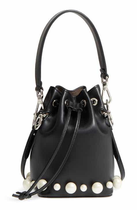 Fendi Imitation Pearl Calfskin Bucket Bag d2adc993c4469