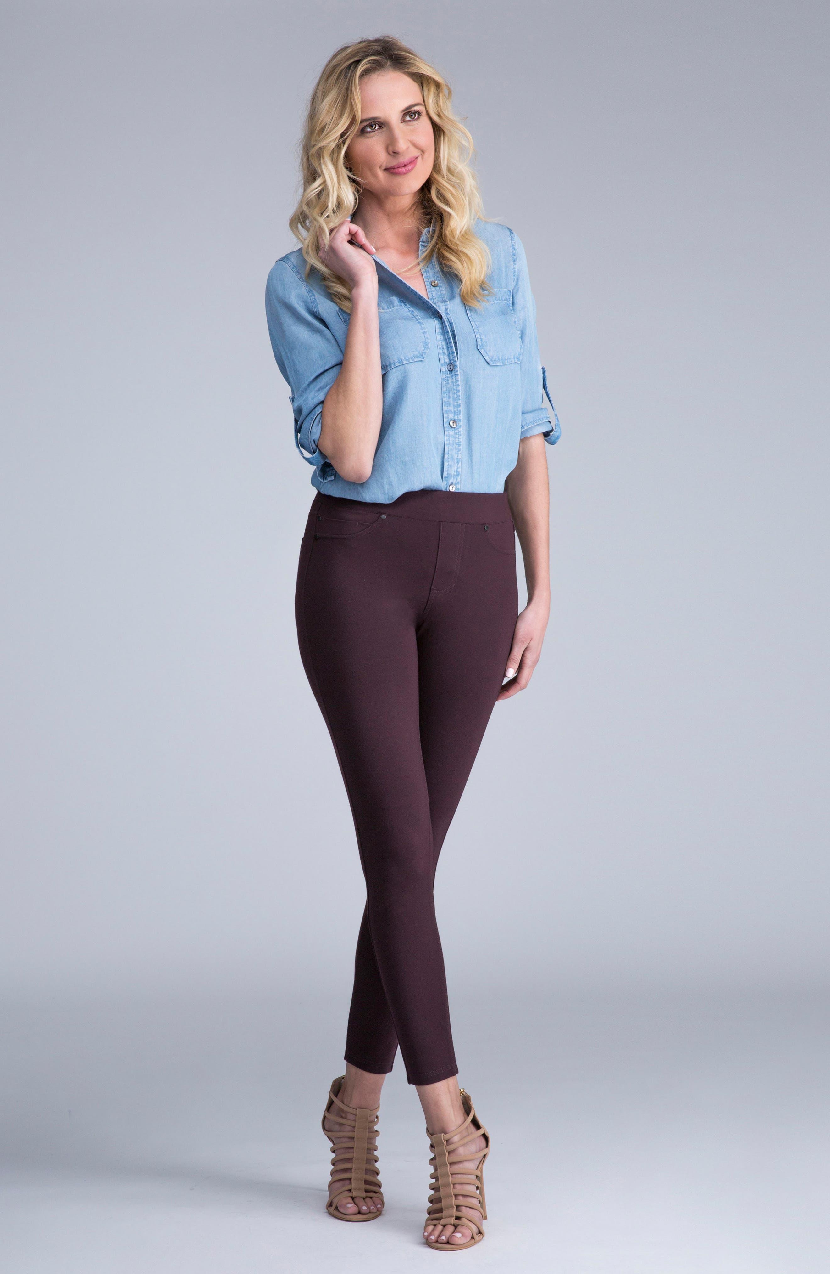 Alternate Image 6  - Liverpool Jeans Company Piper Hugger Leggings (Aubergine)