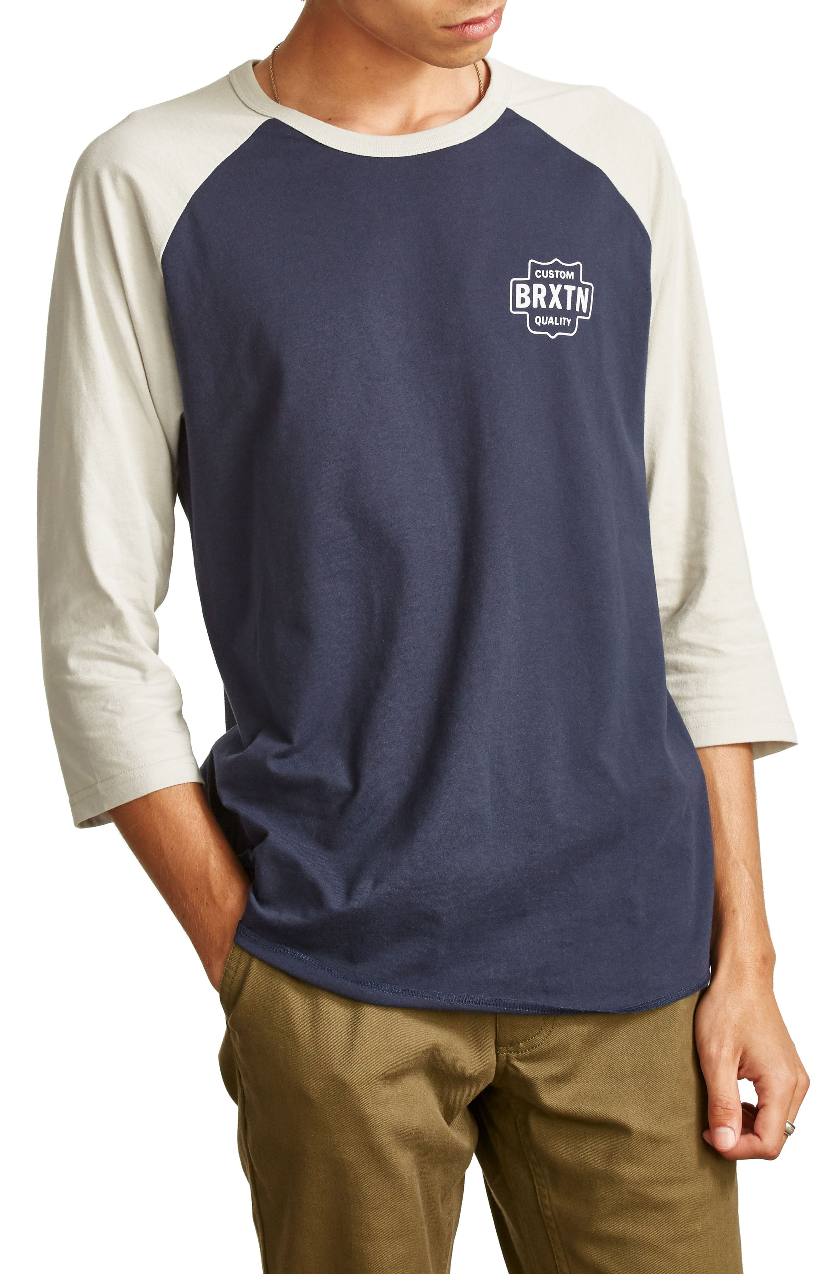 Garth Baseball T-Shirt,                             Alternate thumbnail 3, color,                             Navy